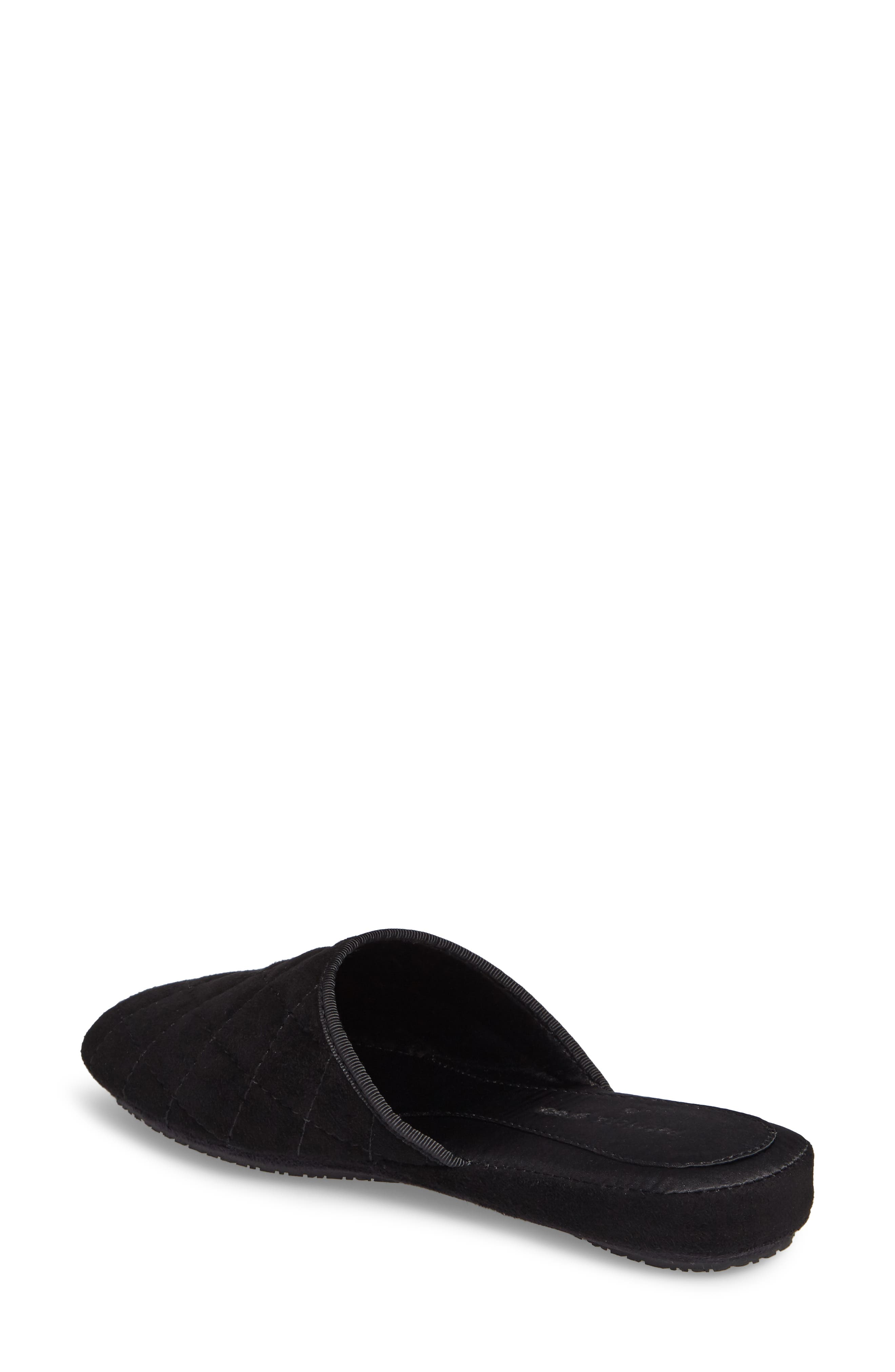 Coco Slipper,                             Alternate thumbnail 2, color,                             Black Suede