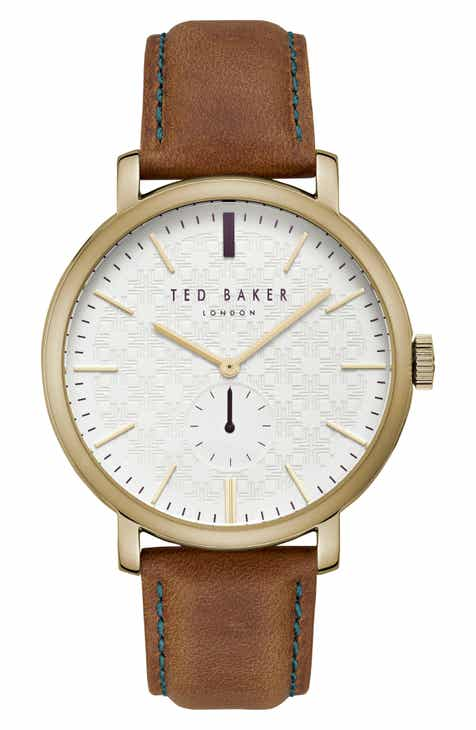 Ted Baker London Trent Leather Strap Watch, 44mm b21effd1aec5