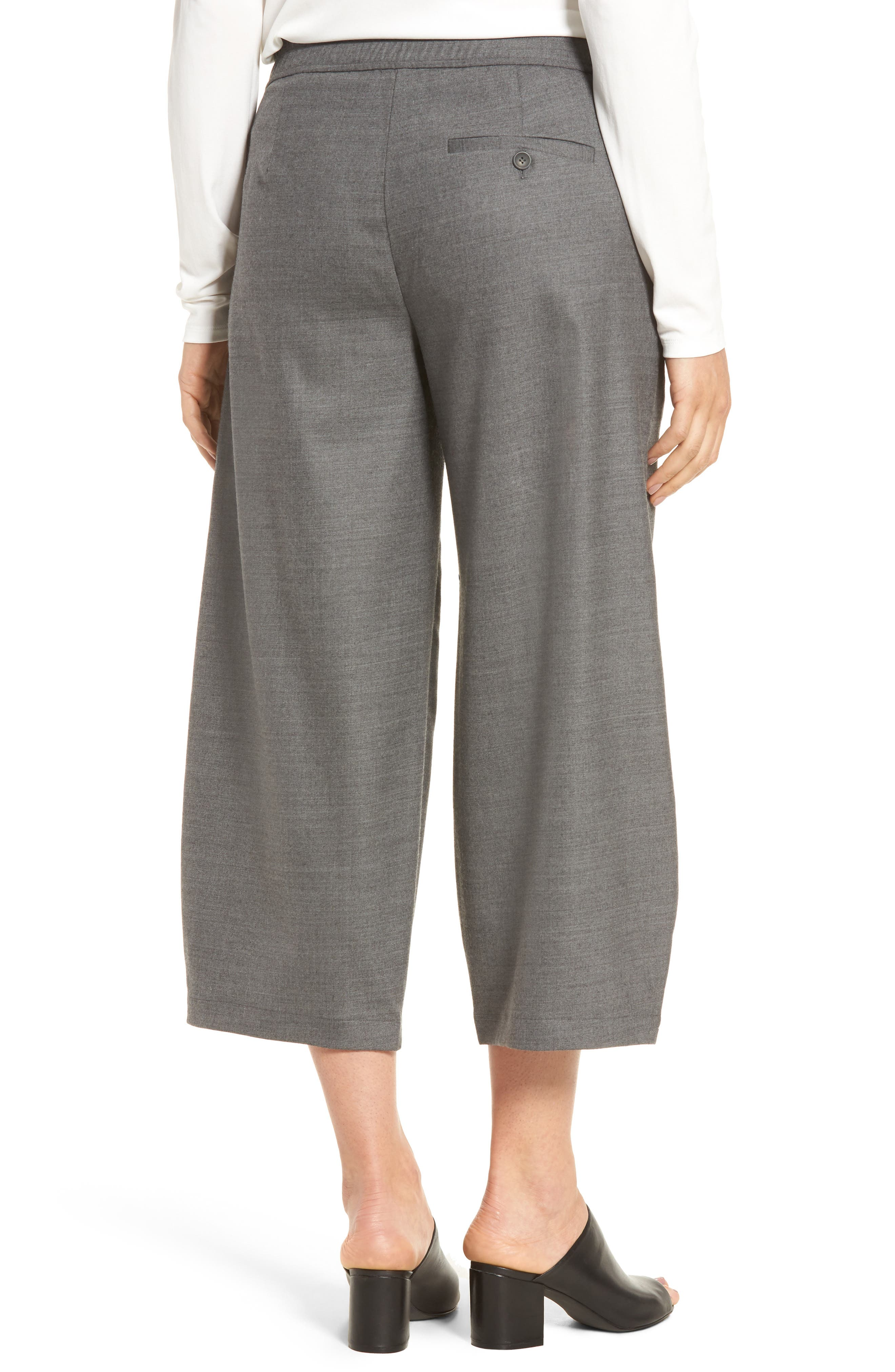 Alternate Image 2  - Eileen Fisher Crop Stretch Wool Ankle Pants