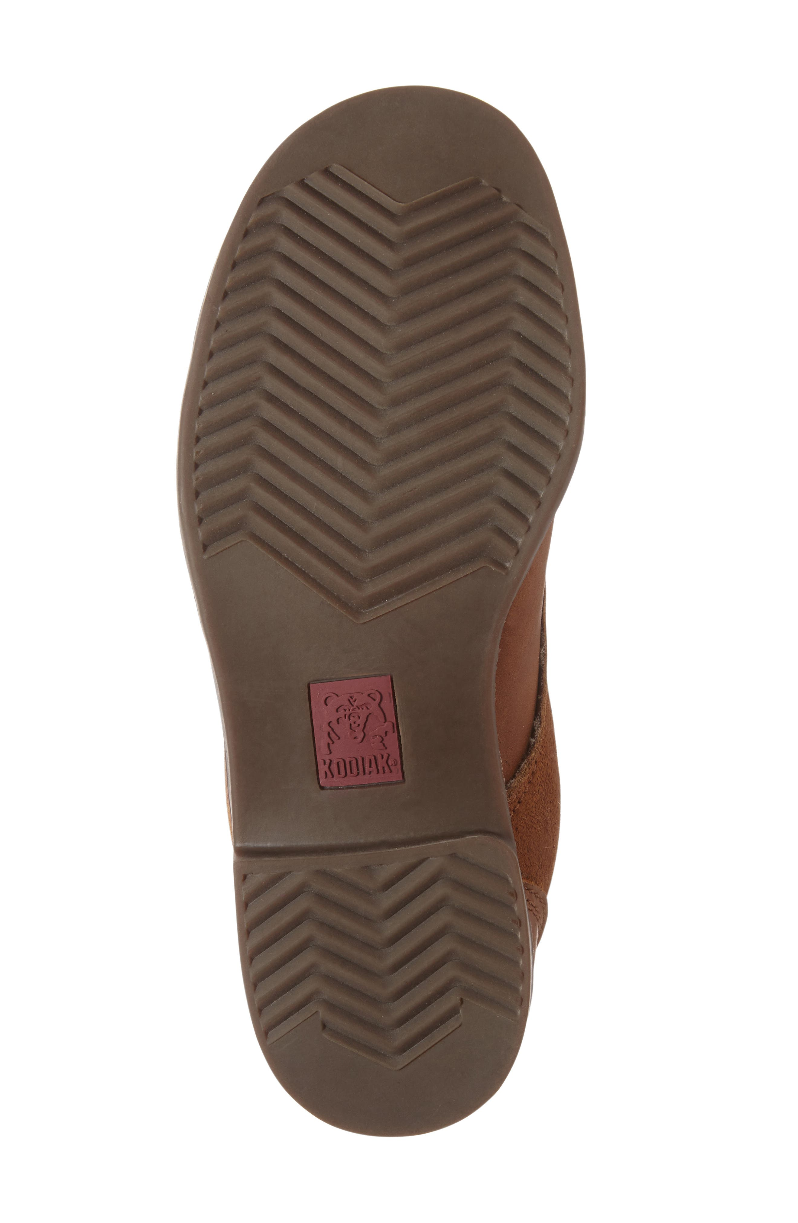 Original Waterproof Genuine Shearling Boot,                             Alternate thumbnail 4, color,                             Caramel Leather