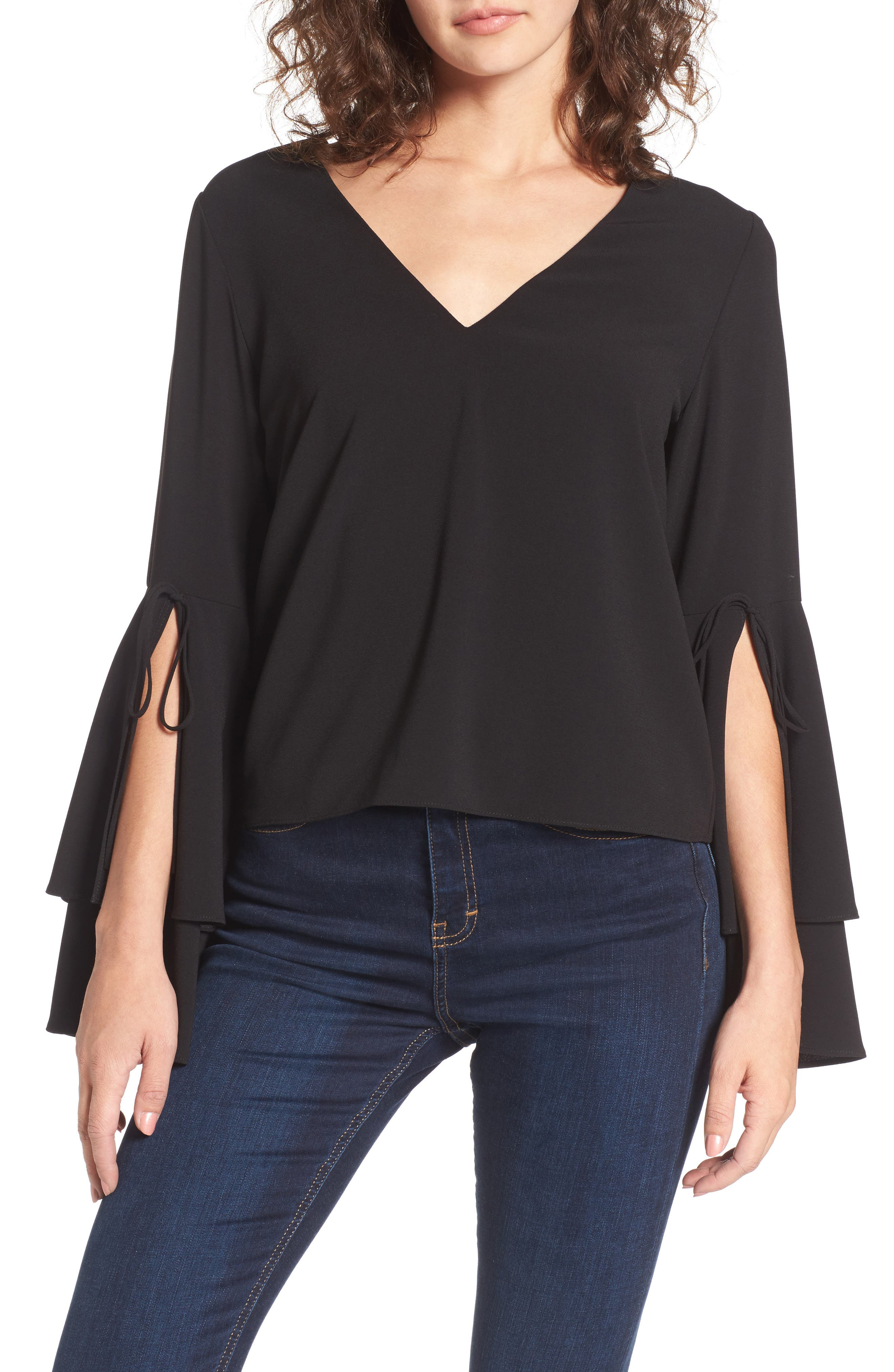 STOREE Ruffle Bell Sleeve Top