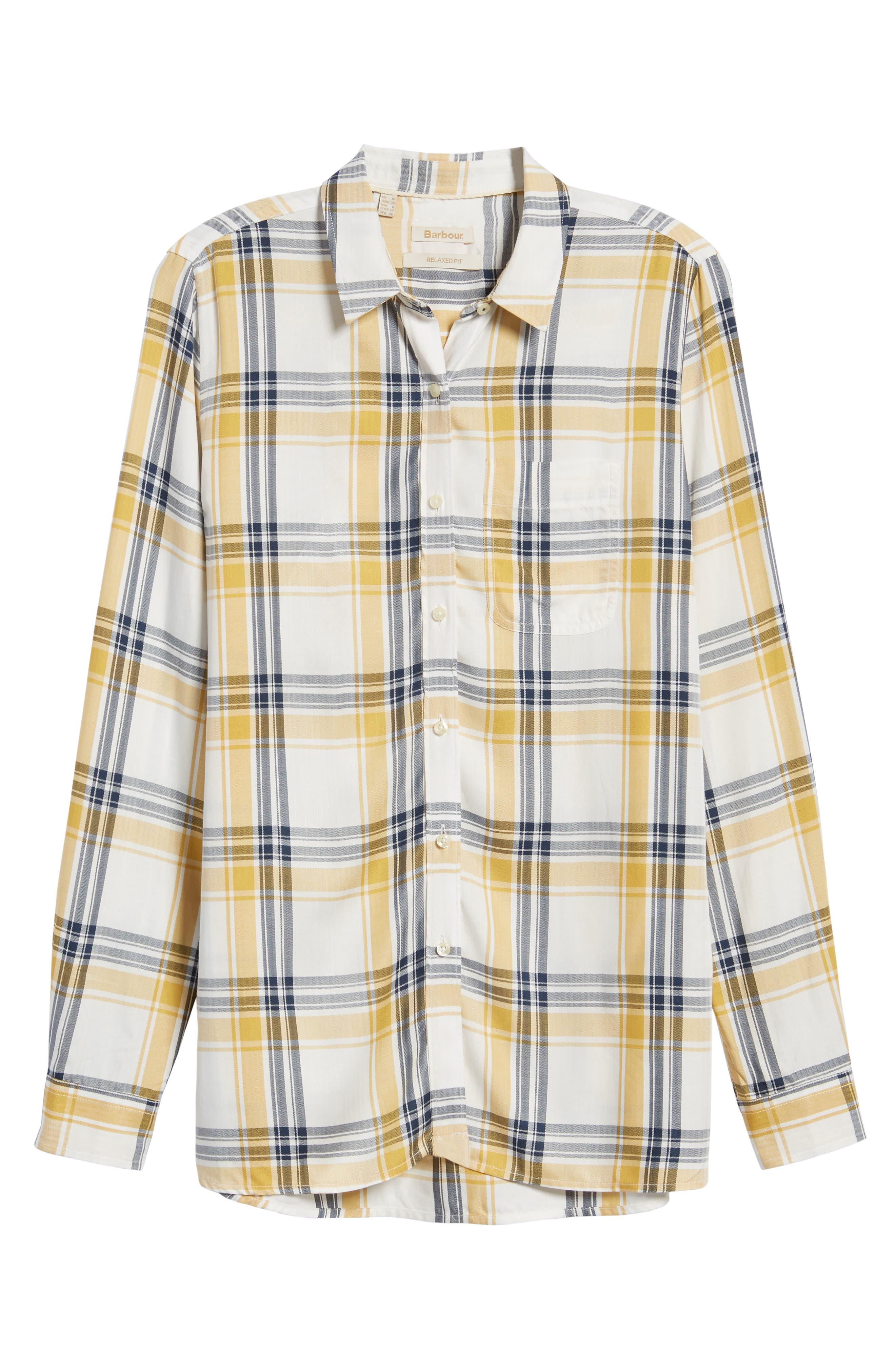 Newton Plaid Shirt,                             Alternate thumbnail 6, color,                             Sun Gold