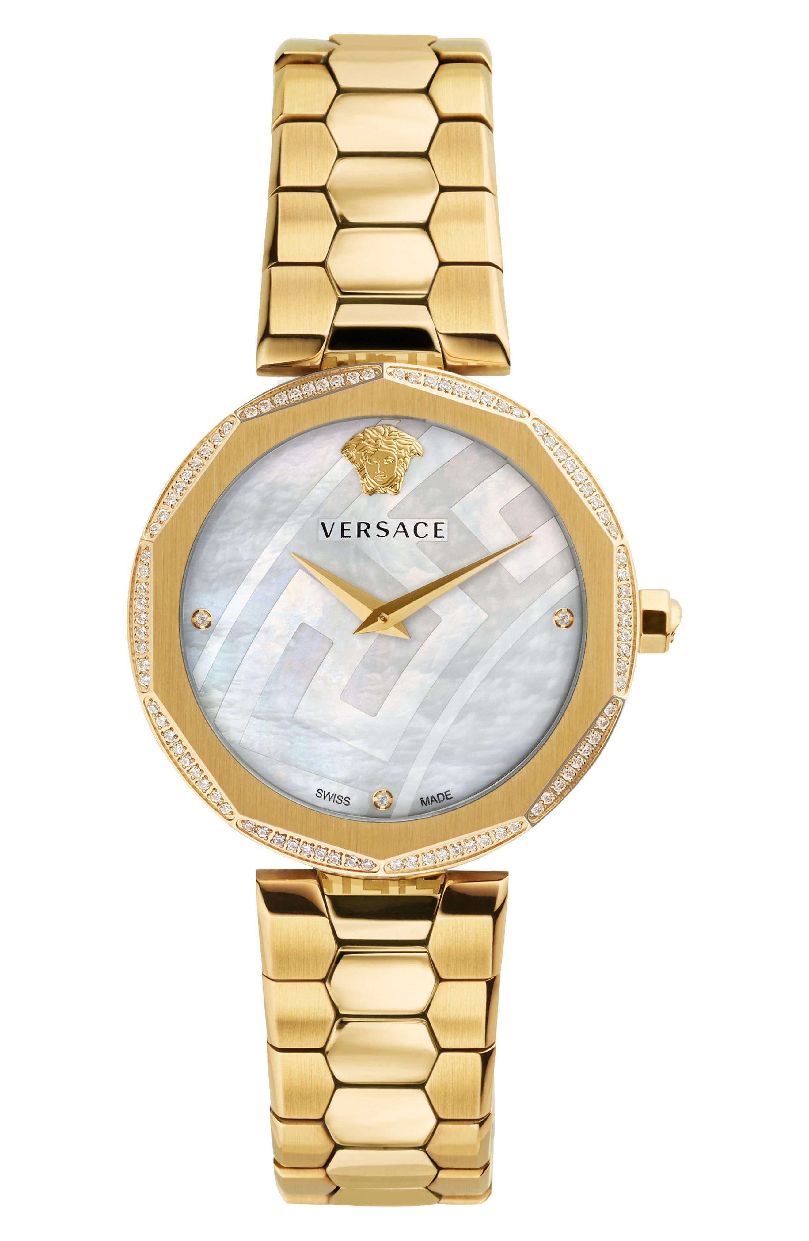 VERSACE Idyia Diamond Bracelet Watch, 36mm