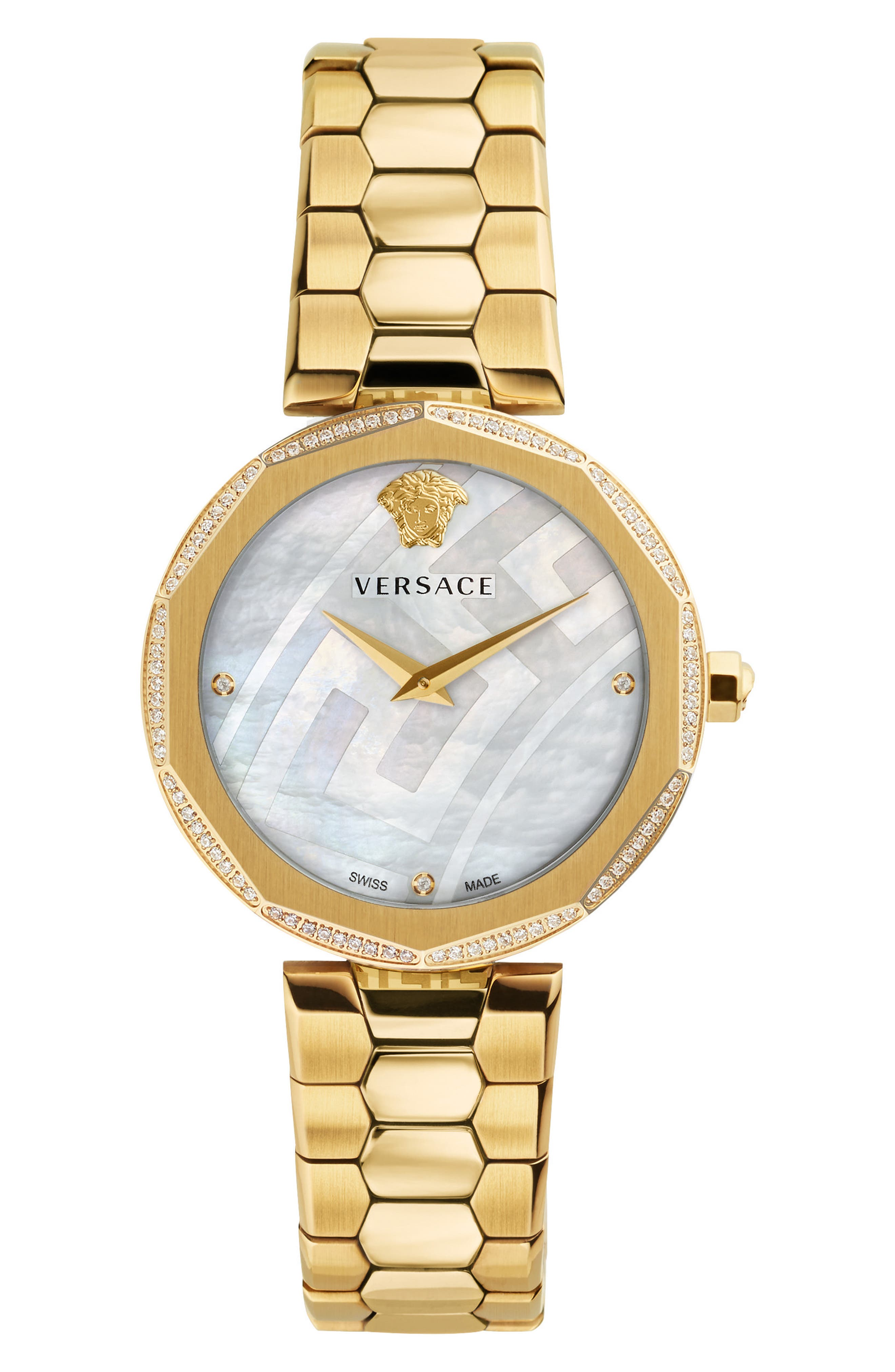 Main Image - Versace Idyia Diamond Bracelet Watch, 36mm