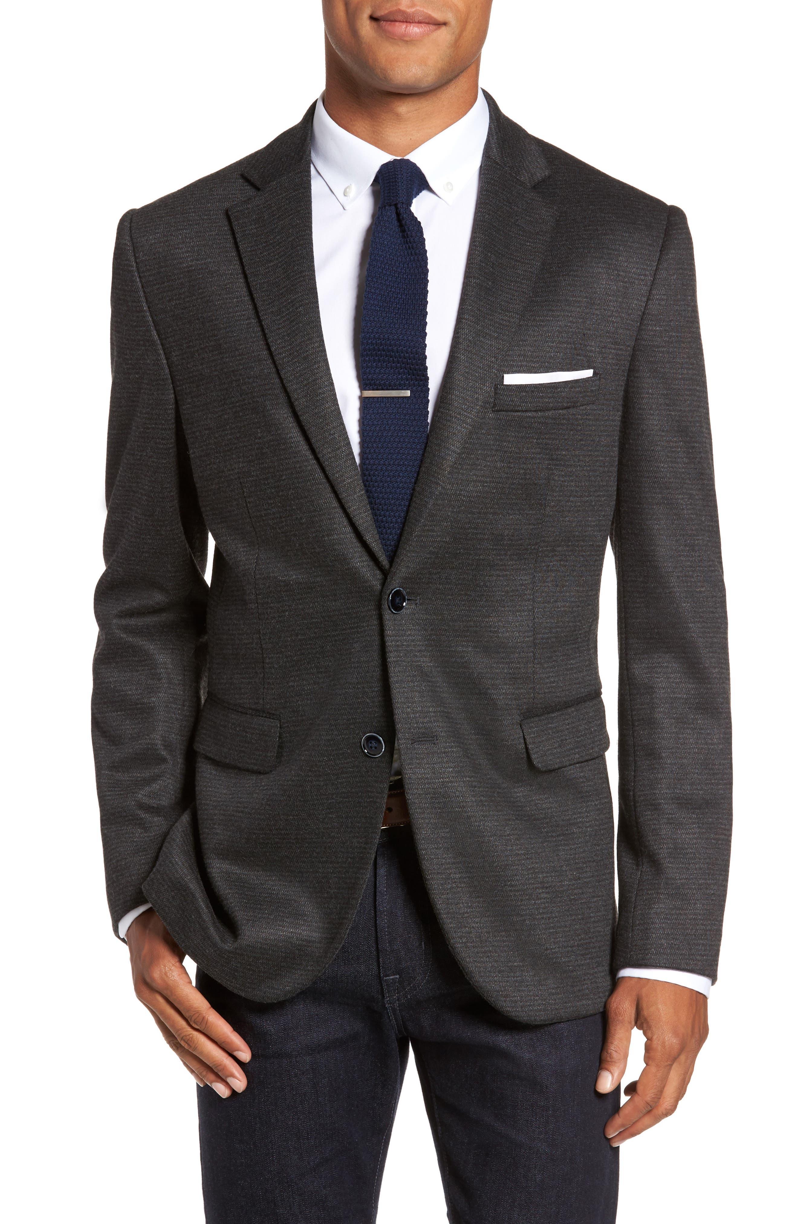 Alternate Image 1 Selected - JKT New York Trim Fit Solid Sport Coat