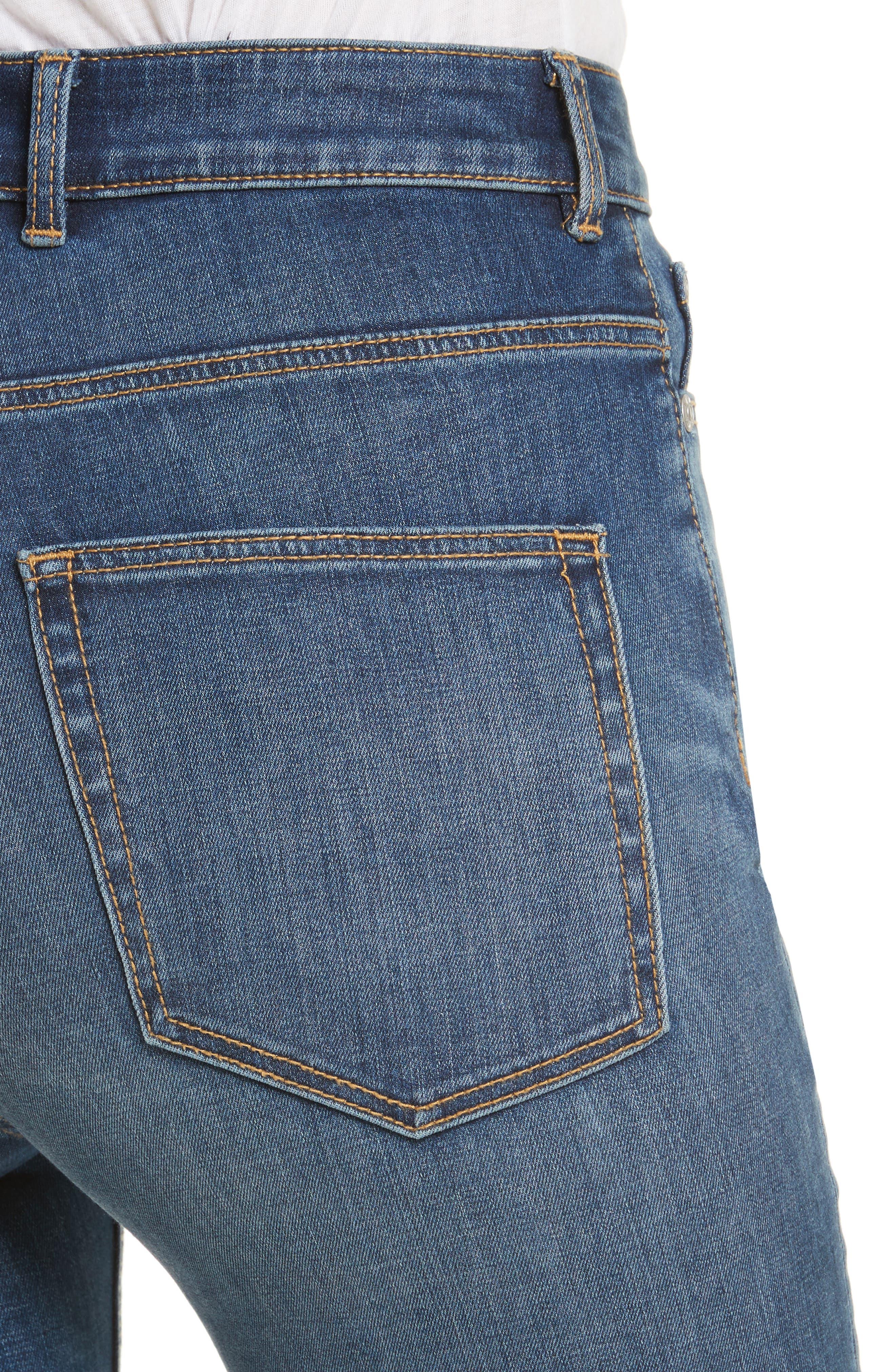 Alternate Image 5  - Rebecca Taylor Clemence Skinny Jeans (Verite)