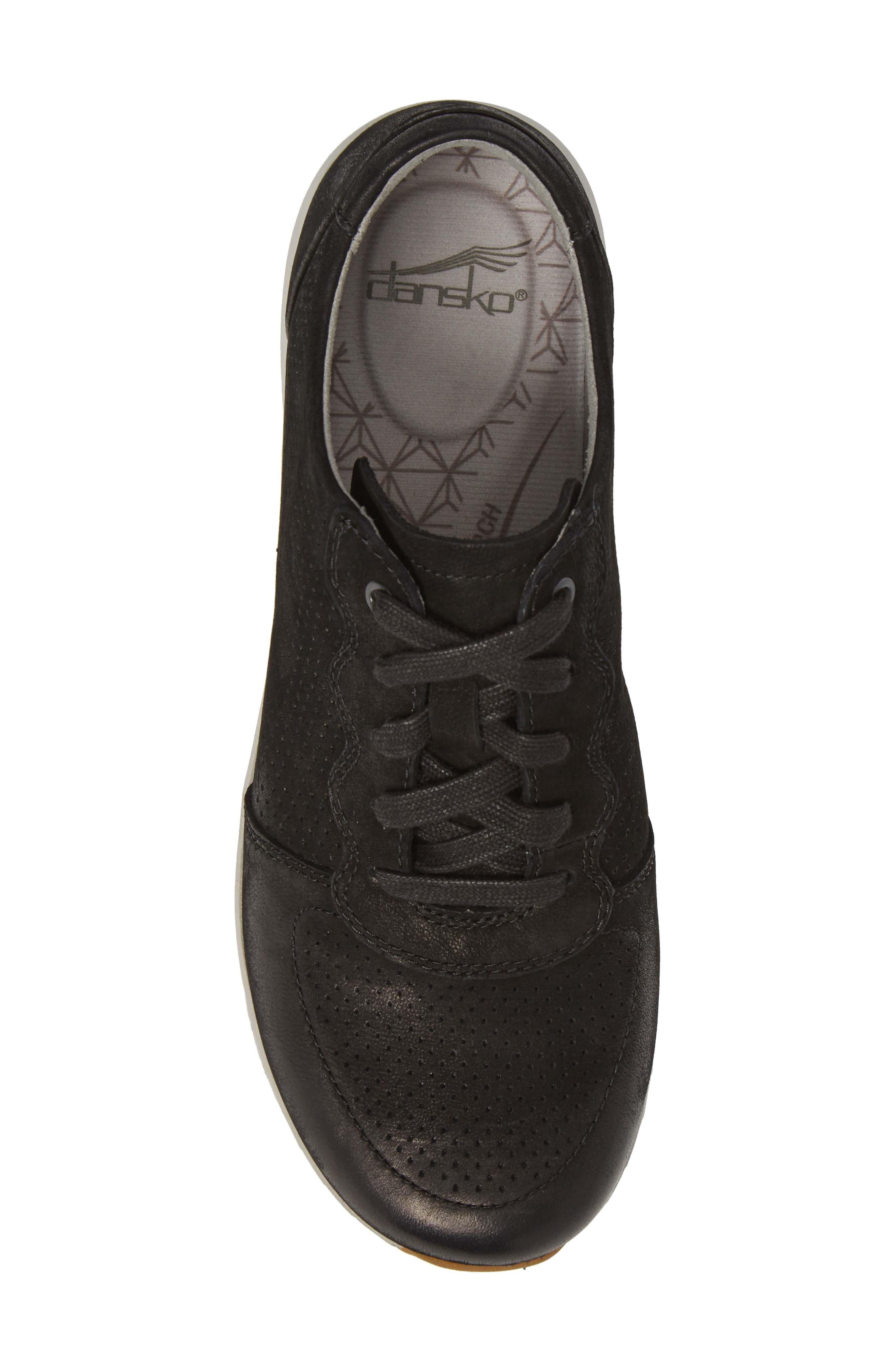 Christina Sneaker,                             Alternate thumbnail 5, color,                             Black Nubuck Leather