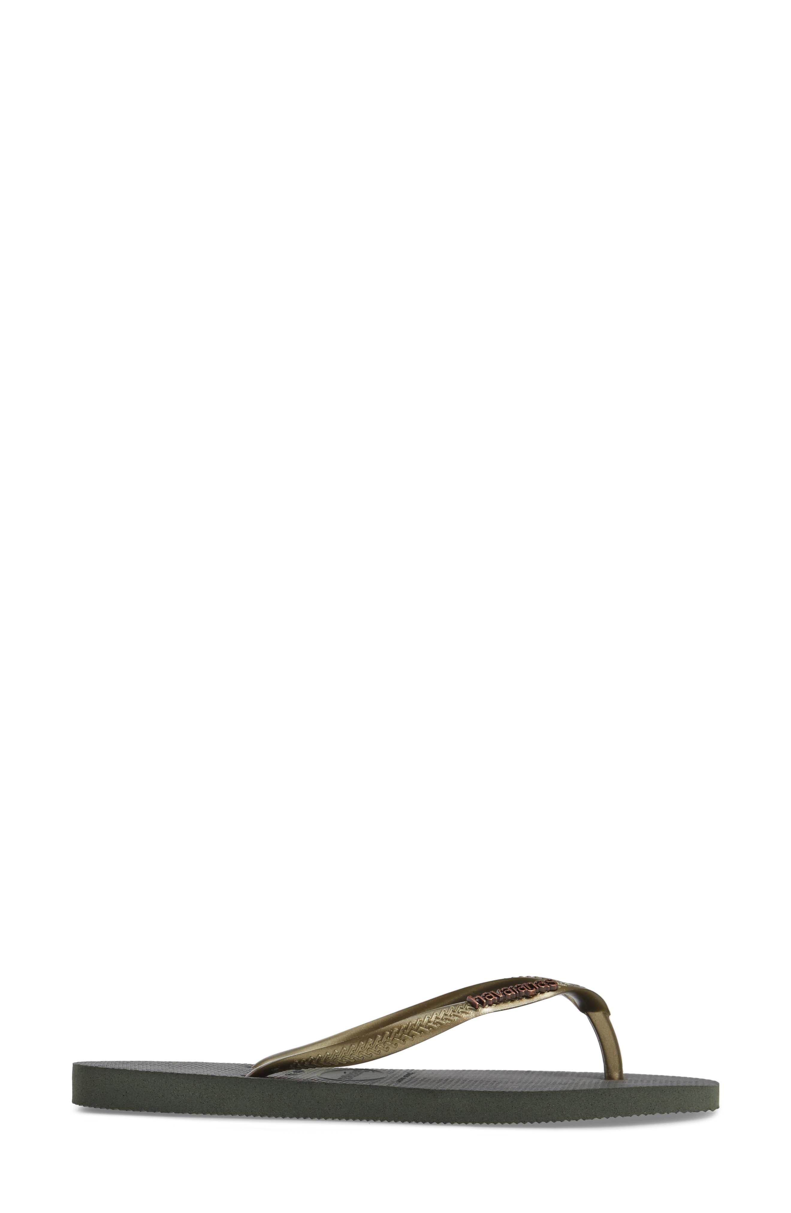 Alternate Image 3  - Havaianas 'Slim Logo' Metallic Flip Flop (Women)