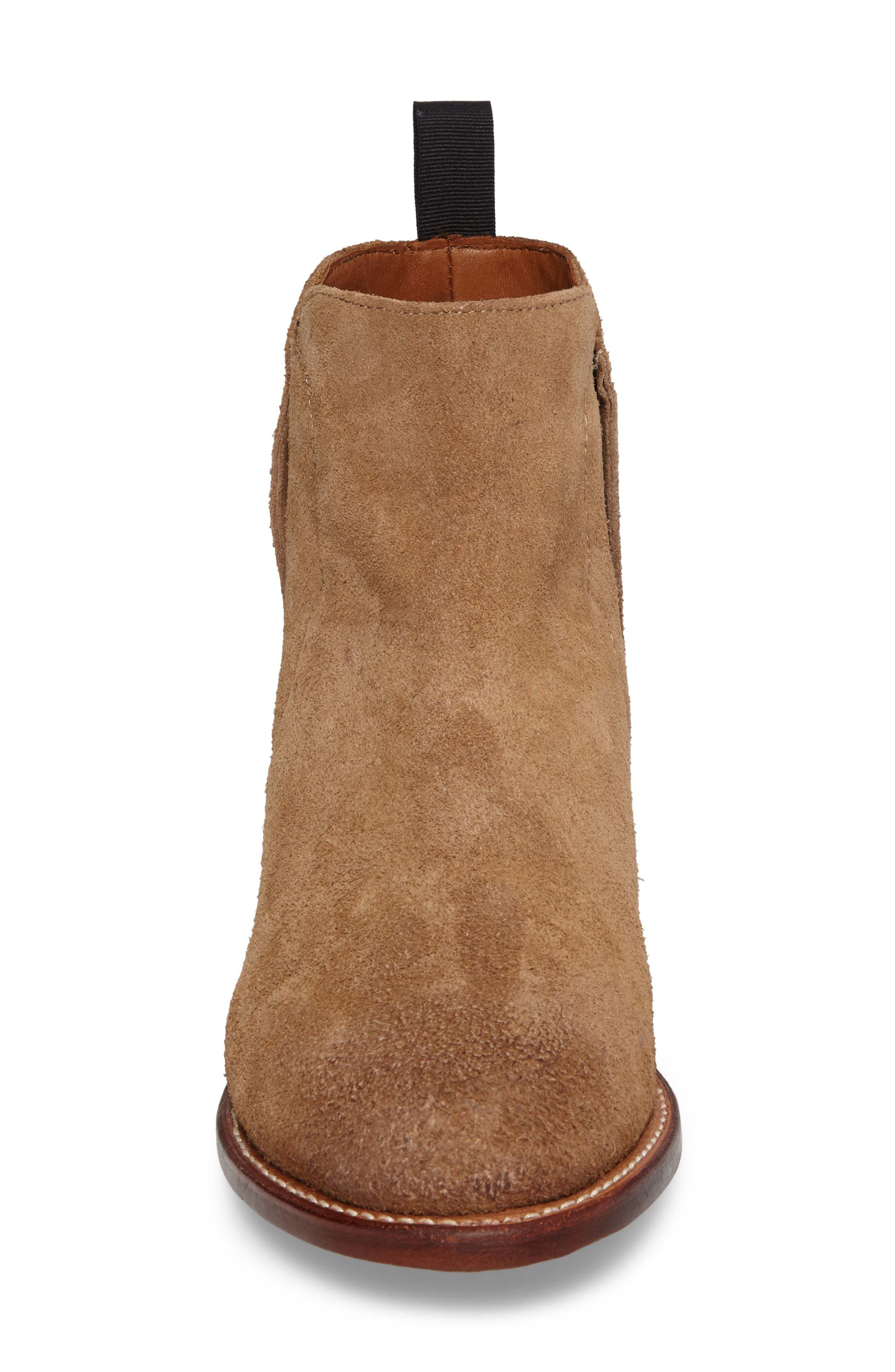 Ariat Maxwell Chelsea Boot,                             Alternate thumbnail 4, color,                             Amaretto Suede