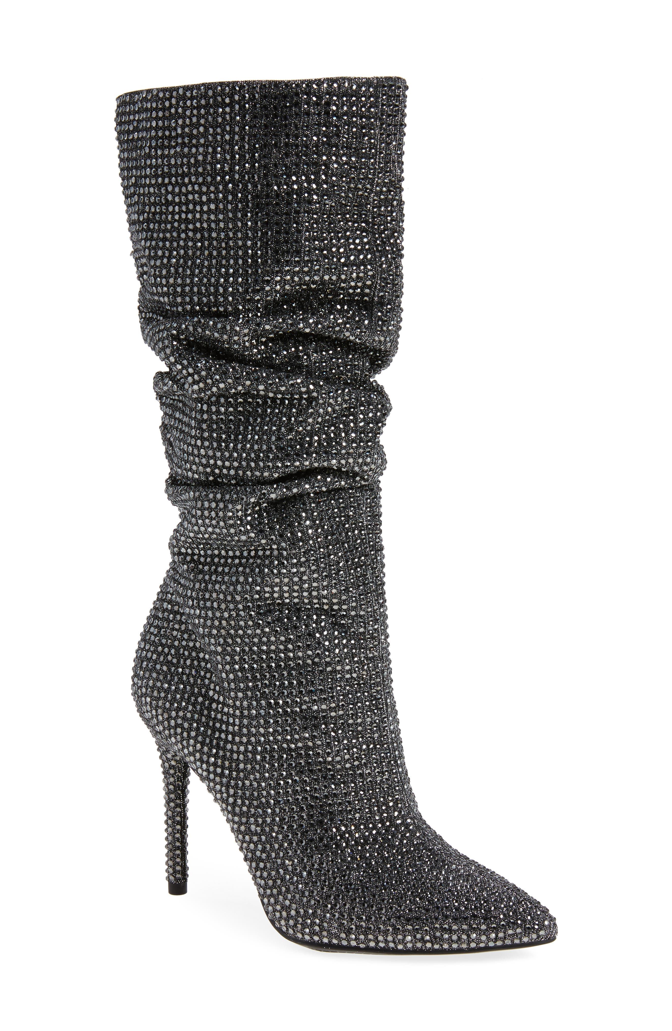 Layzer Embellished Slouch Boot,                             Main thumbnail 1, color,                             Pewter Multi