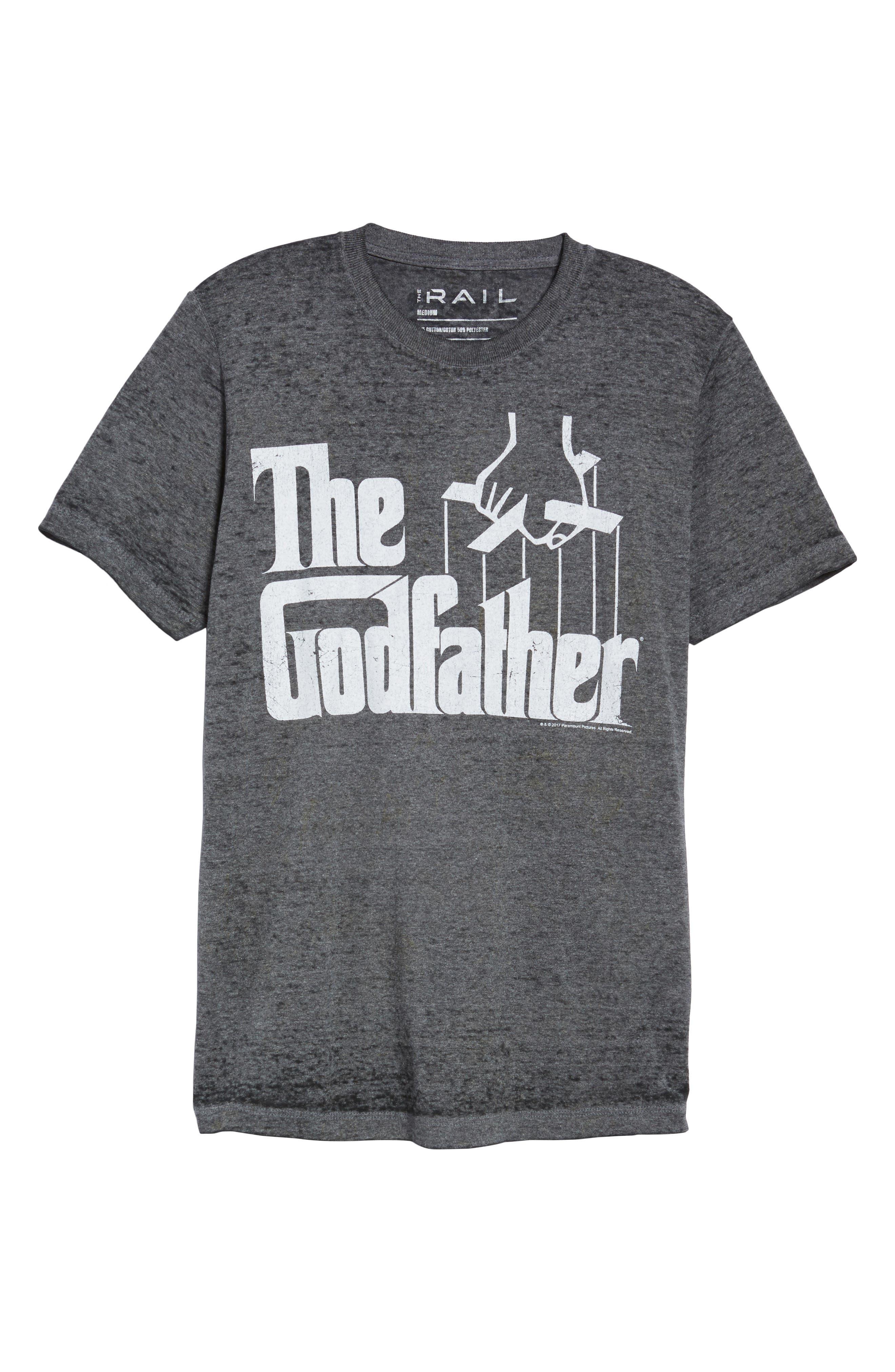 Burnout Graphic T-Shirt,                             Alternate thumbnail 6, color,                             Black The Godfather