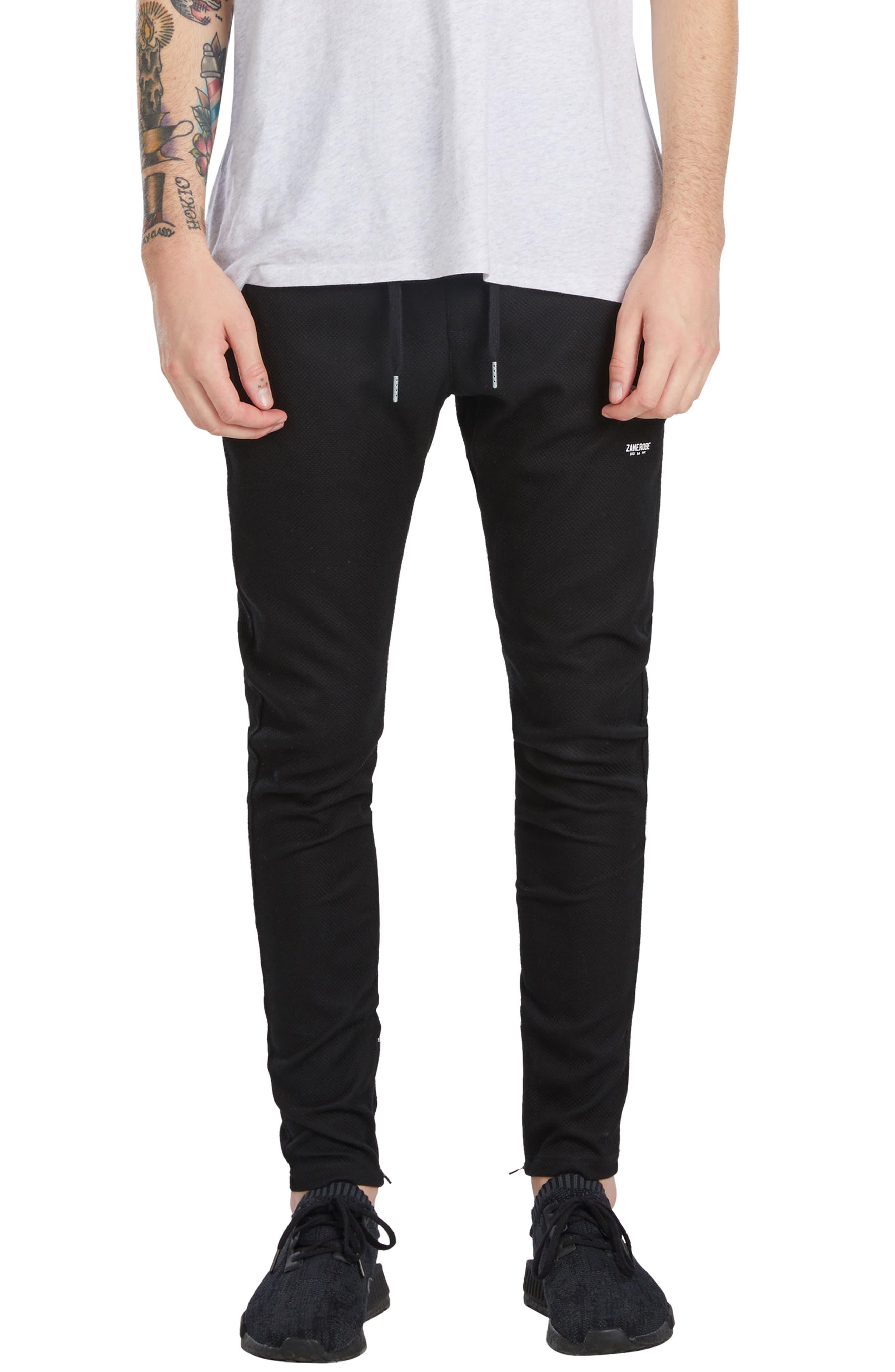 Waffle Cling Pants,                         Main,                         color, Black