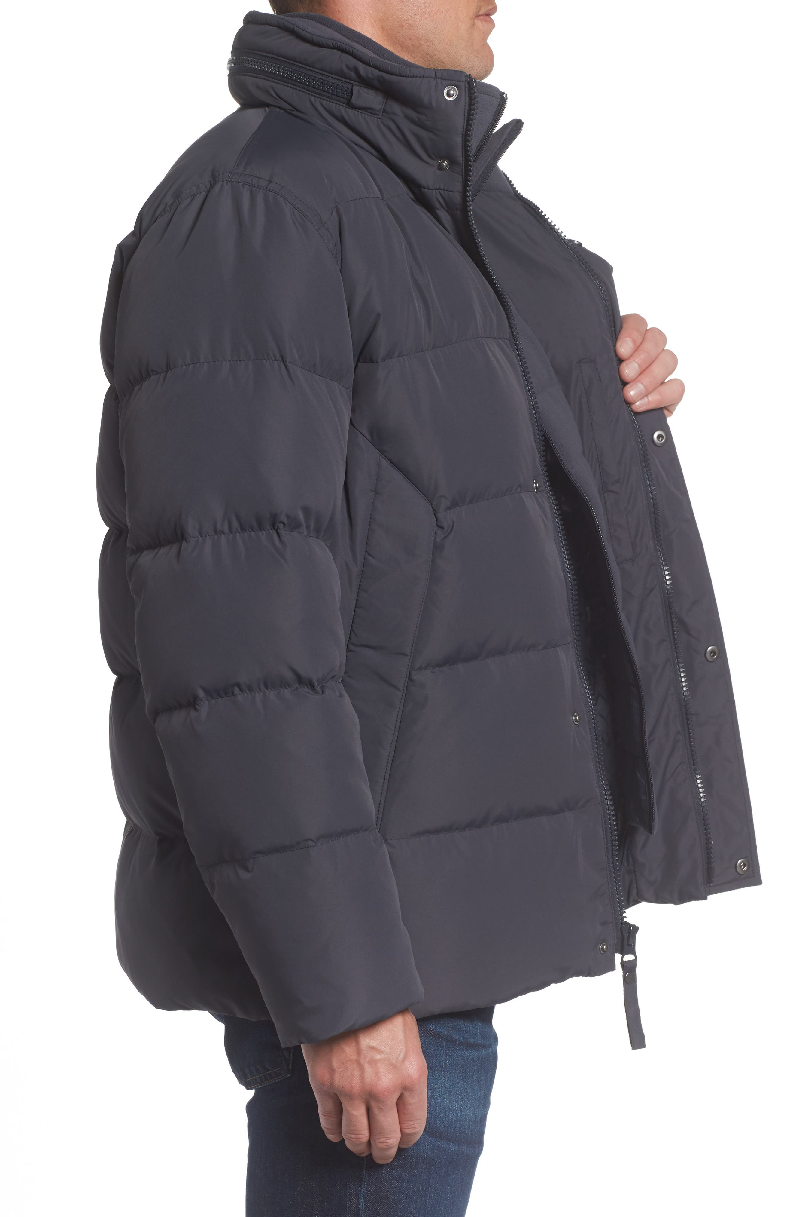 Andrew Marc Carlton Quilted Parka,                             Alternate thumbnail 3, color,                             Magnet