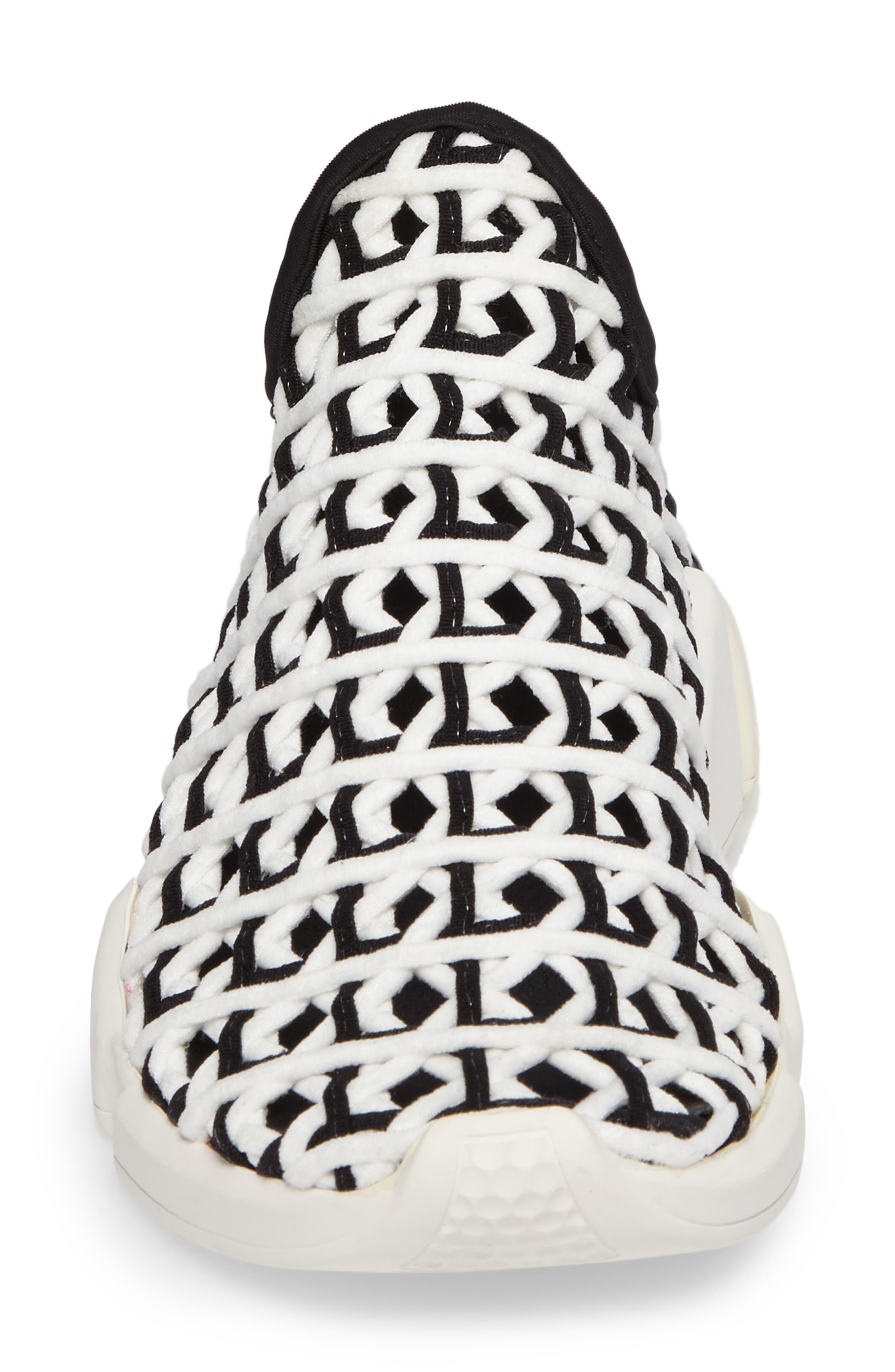 Slip-On Sneaker,                             Alternate thumbnail 4, color,                             White Black White