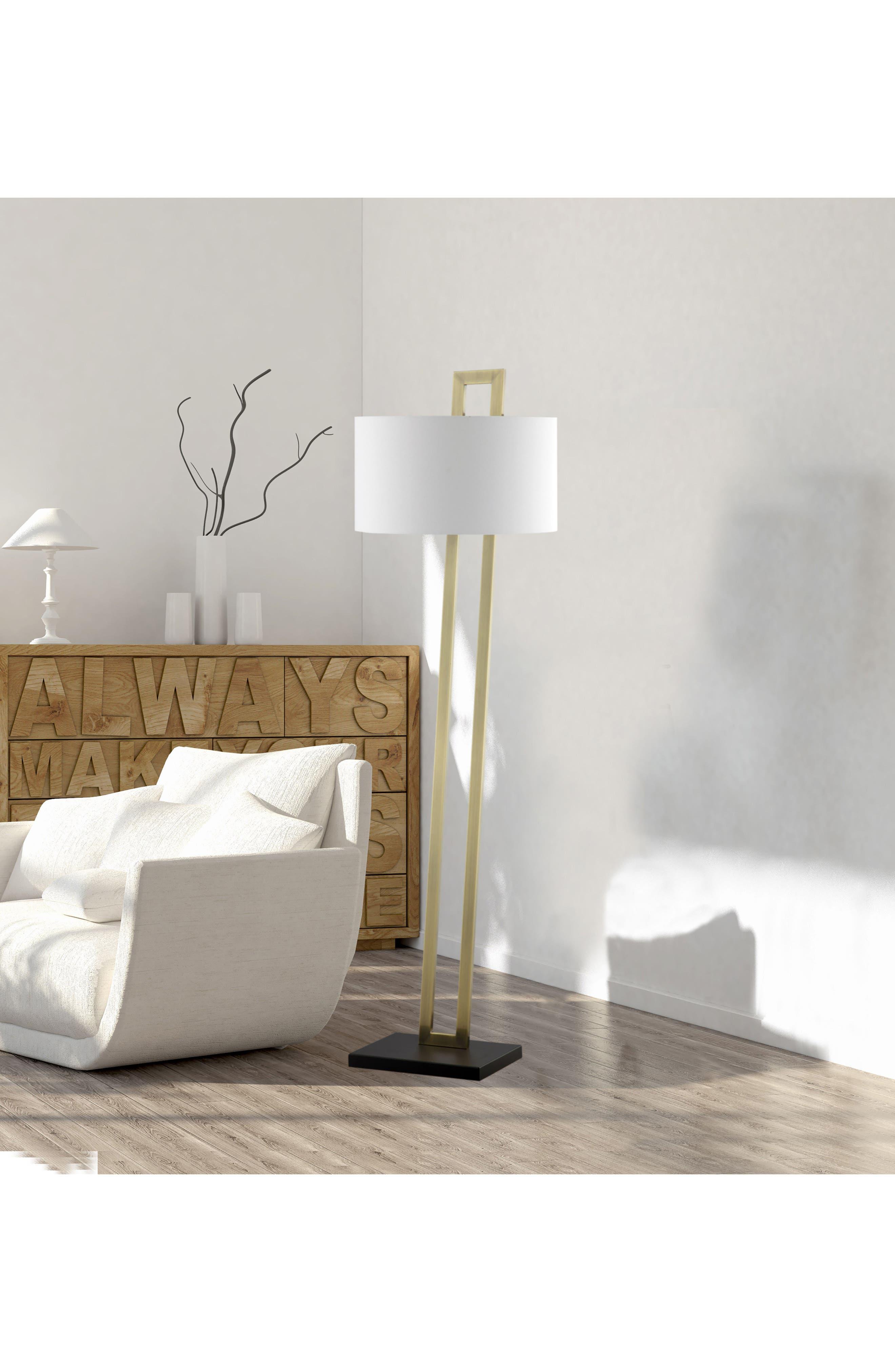 JAlexander Preston Floor Lamp,                             Alternate thumbnail 2, color,                             Brass