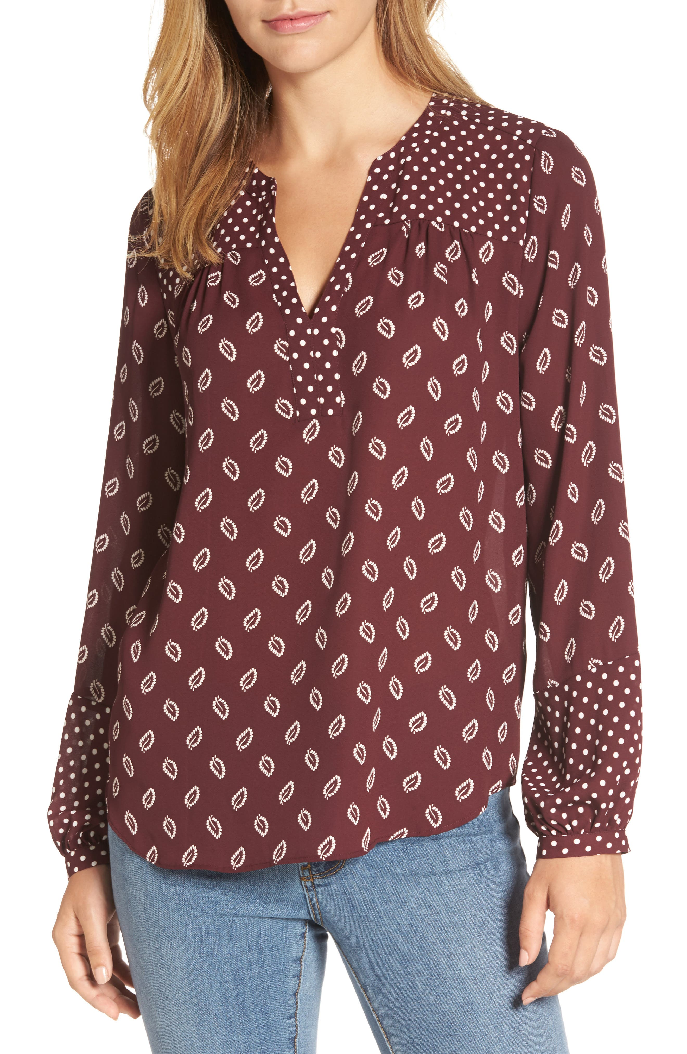 NYDJ Print Peasant Top (Regular & Petite)