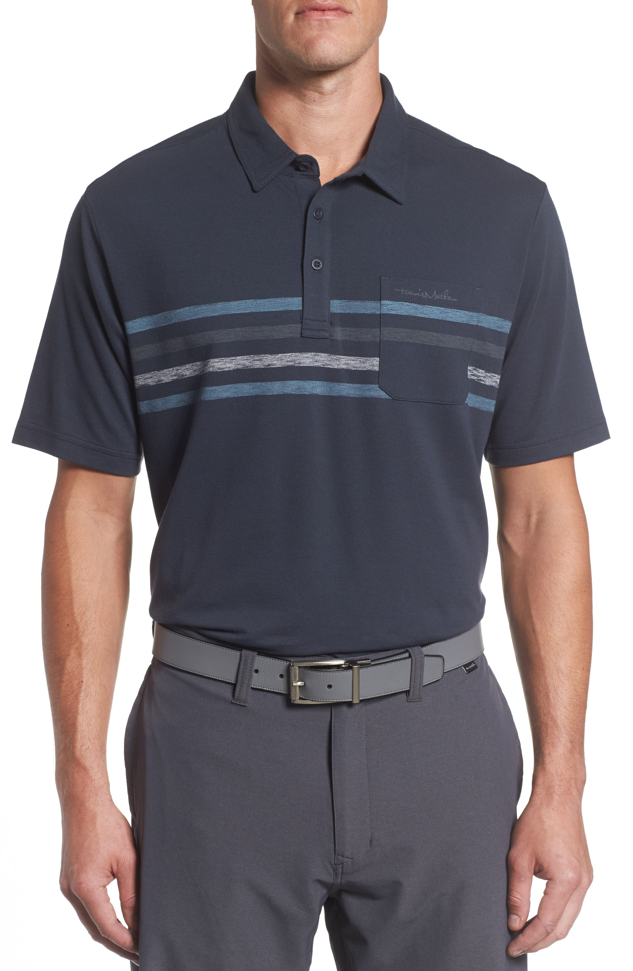 Kartchner Chest Stripe Polo,                         Main,                         color, Blue Nights