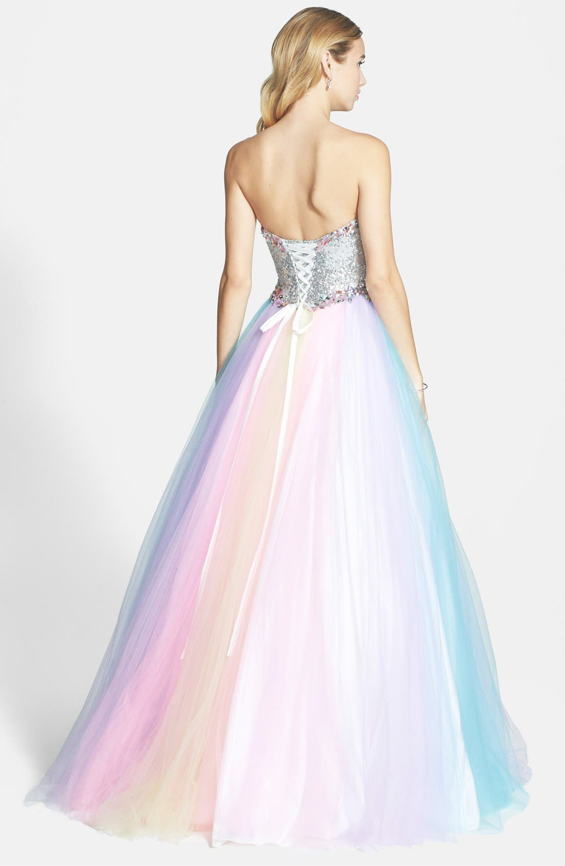 Alternate Image 2  - Mac Duggal Rainbow Gown