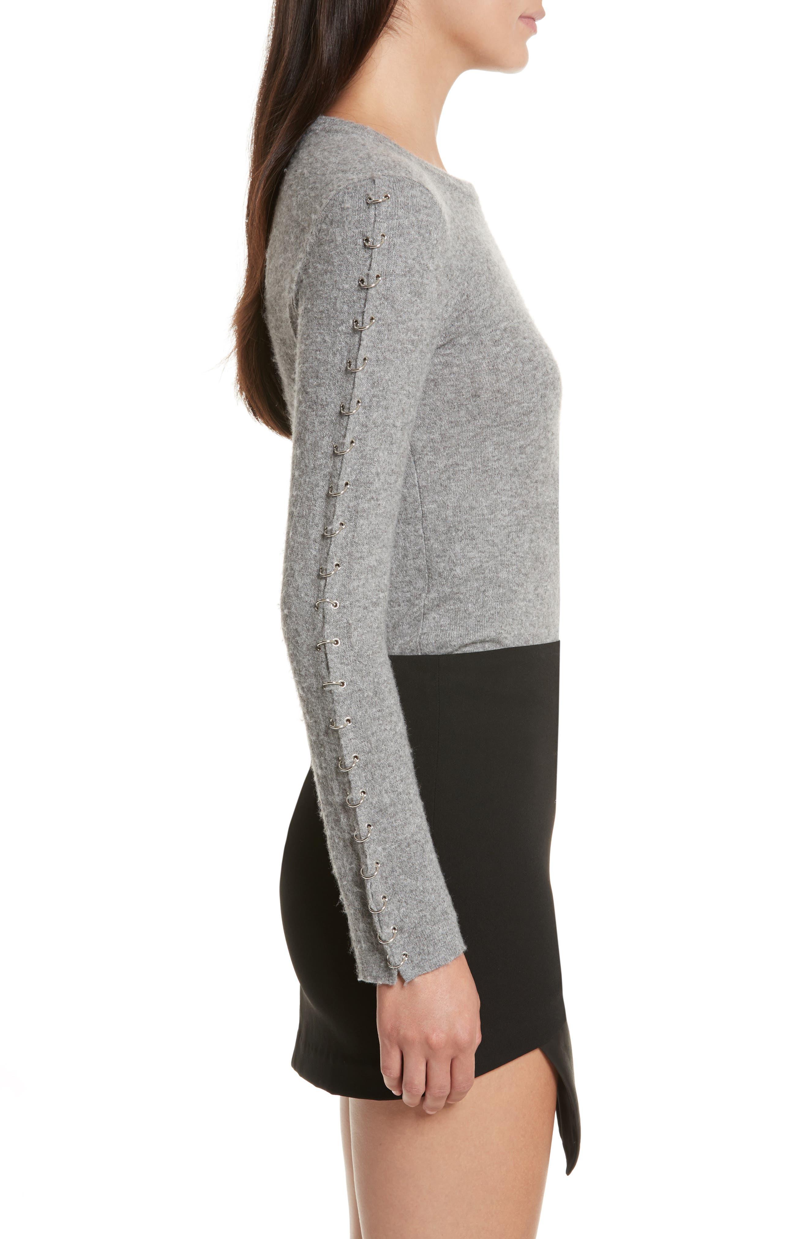 Alternate Image 3  - Alice + Olivia Sparrow Grommet Sleeve Sweater