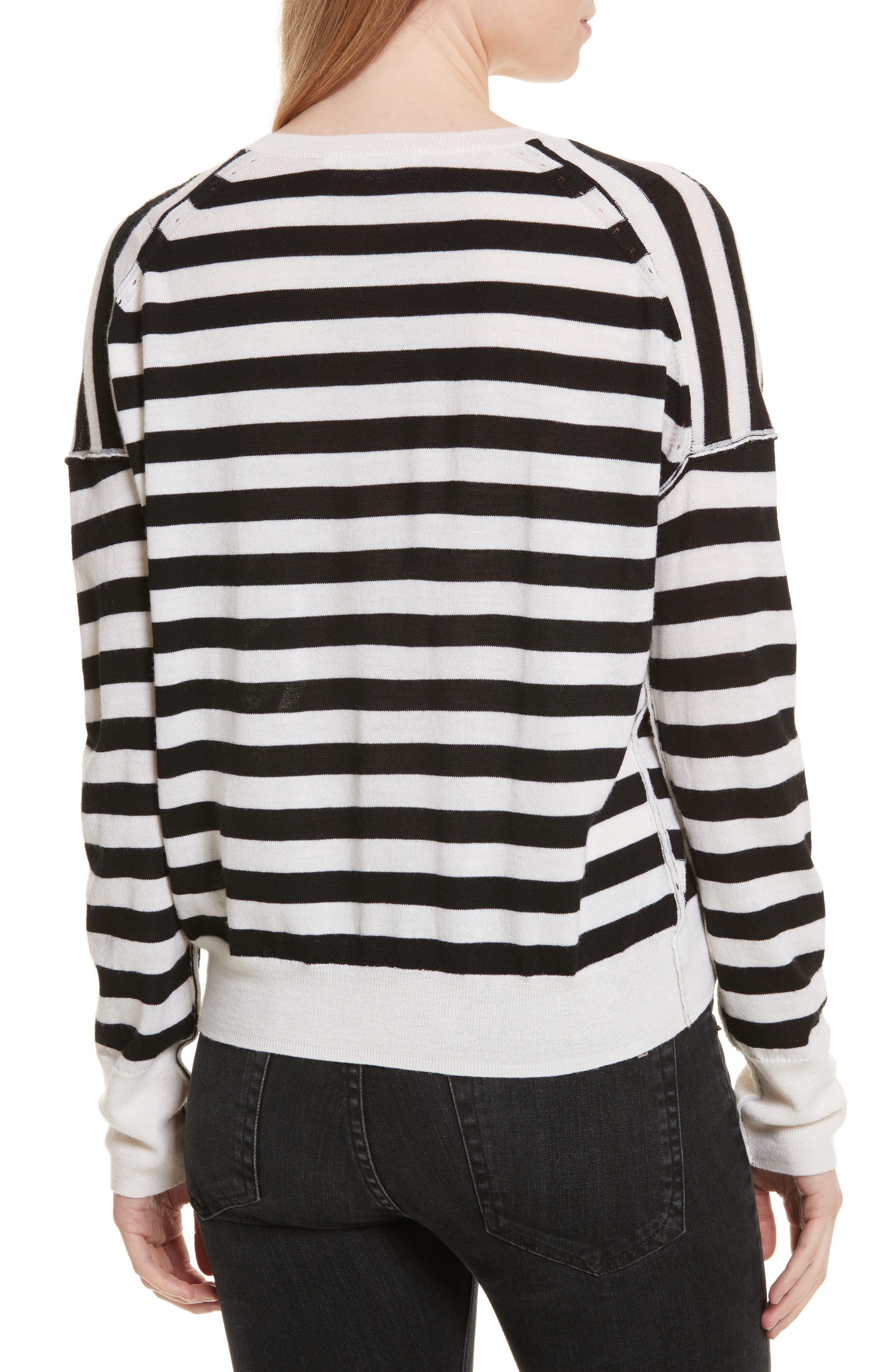 Alternate Image 2  - rag & bone/JEAN Bevan Stripe Wool Sweater