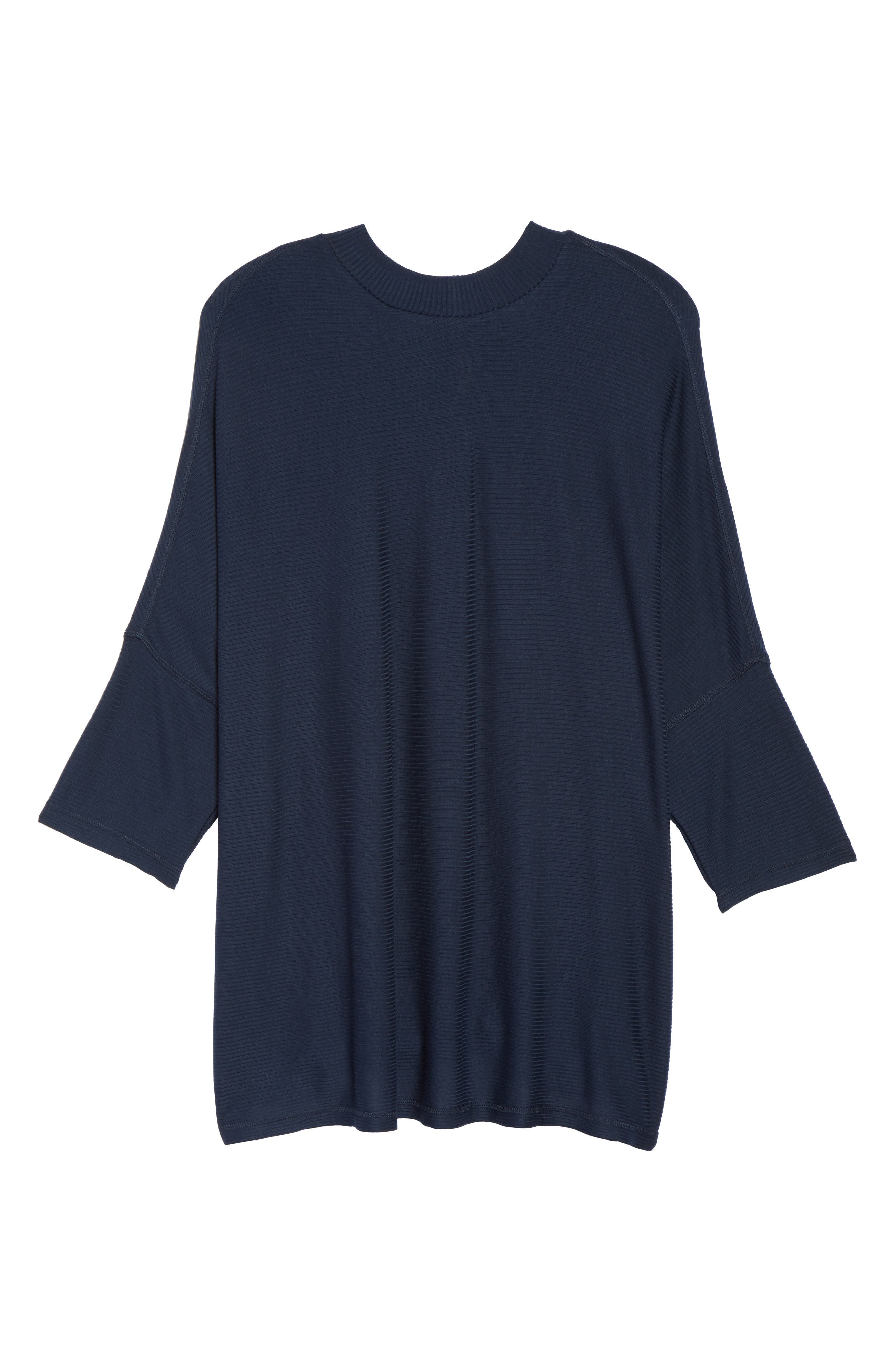 Alternate Image 6  - Melissa McCarthy Seven7 Mock Neck Rib Knit Top (Plus Size)