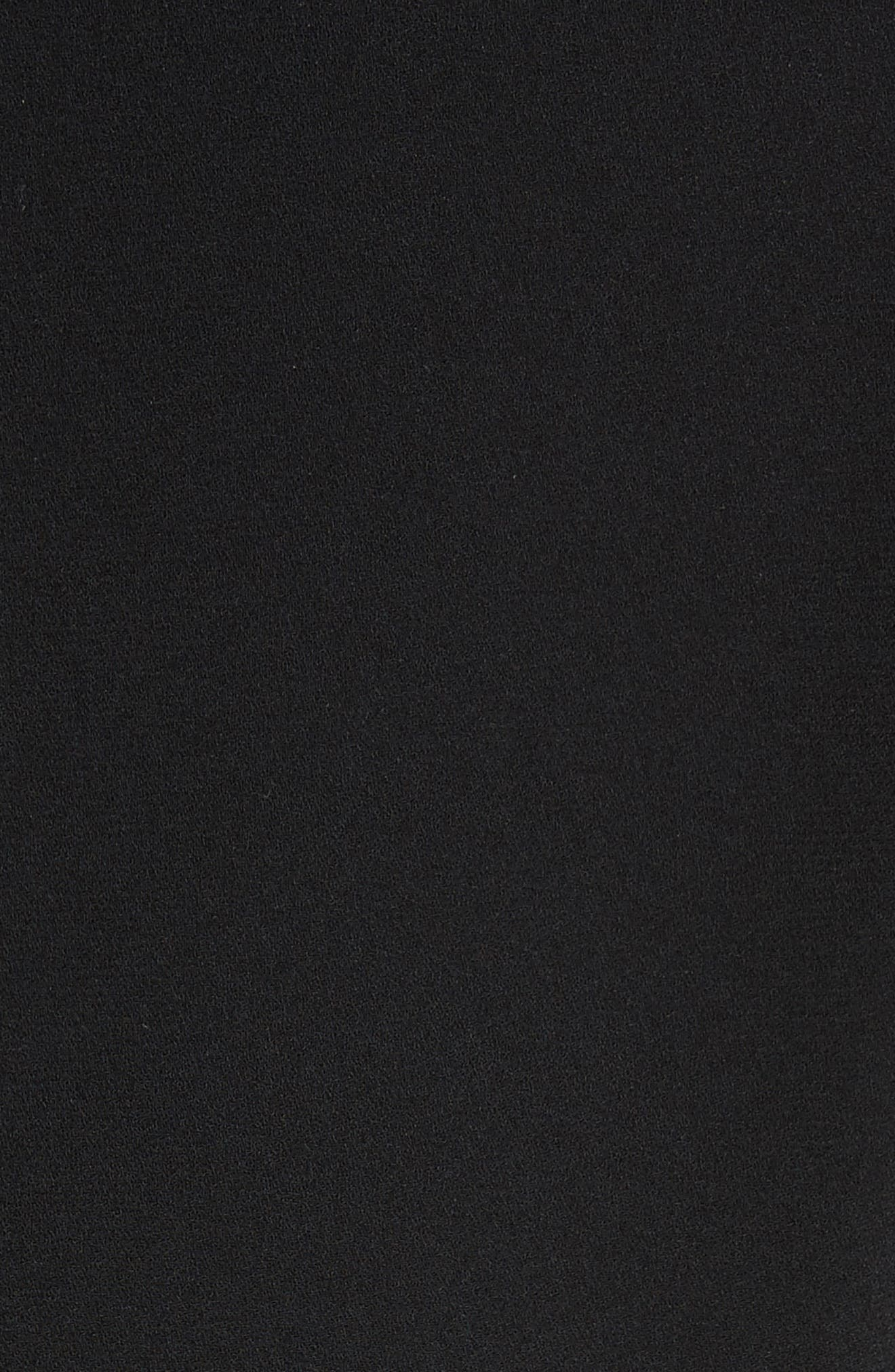 Preacher Flare Sleeve Minidress,                             Alternate thumbnail 3, color,                             Black