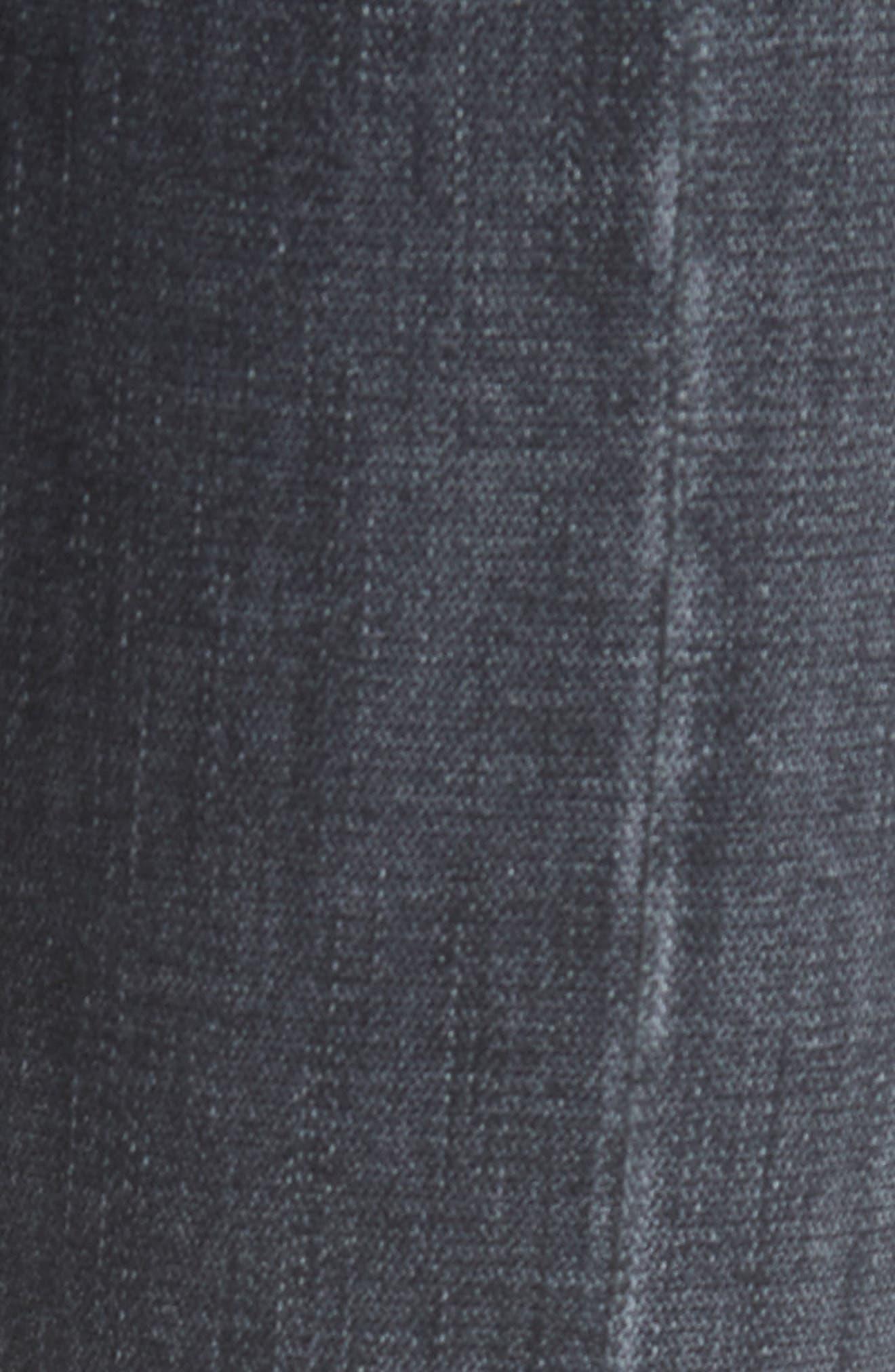 Split Hem Ankle Skinny Jeans,                             Alternate thumbnail 5, color,                             Vintage Noir