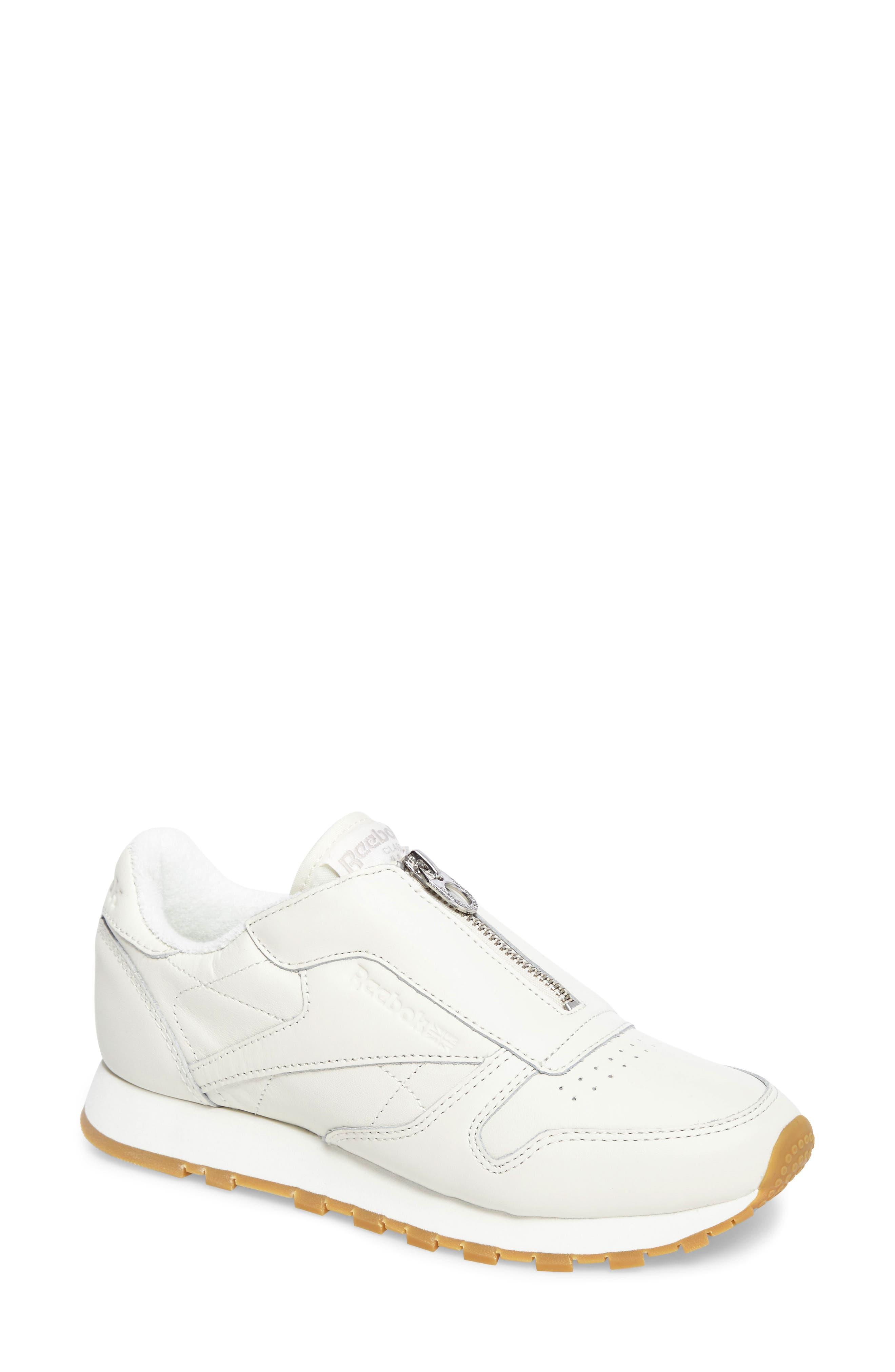 Alternate Image 1 Selected - Reebok Classic Leather Zip Sneaker (Women)