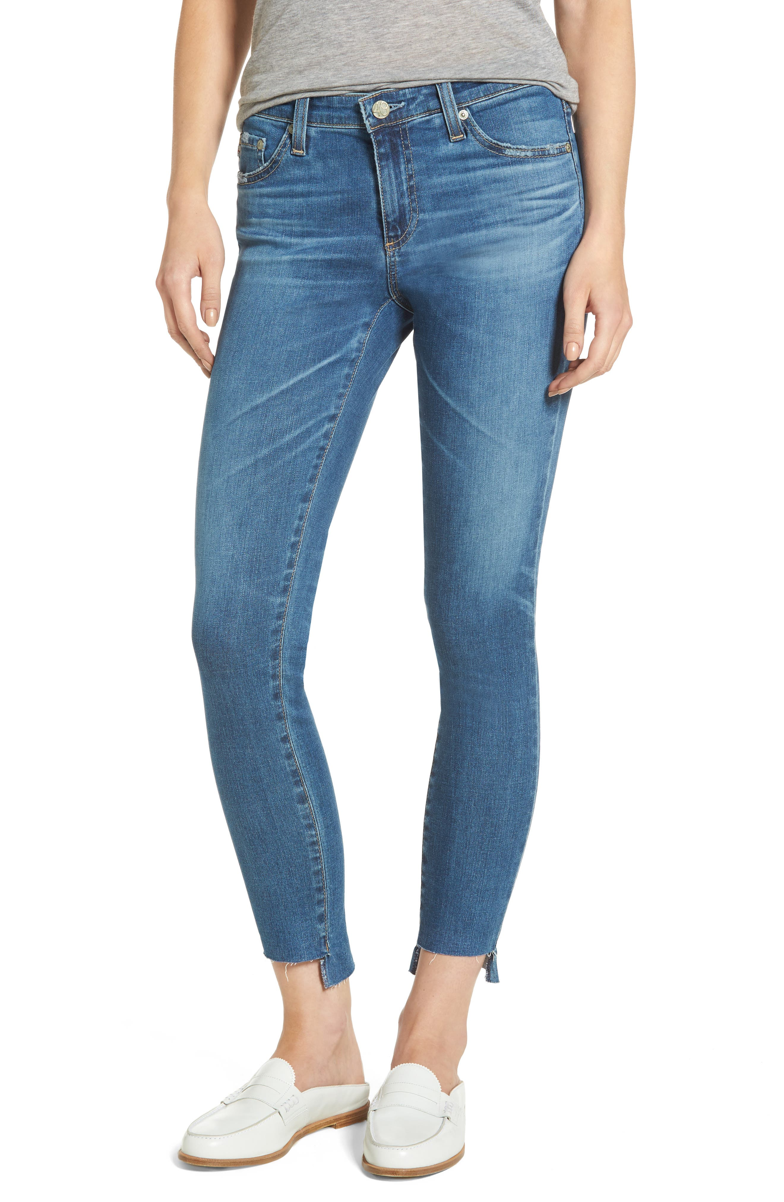 The Legging Step Hem Ankle Skinny Jeans,                         Main,                         color, 14 Years Blue Nile