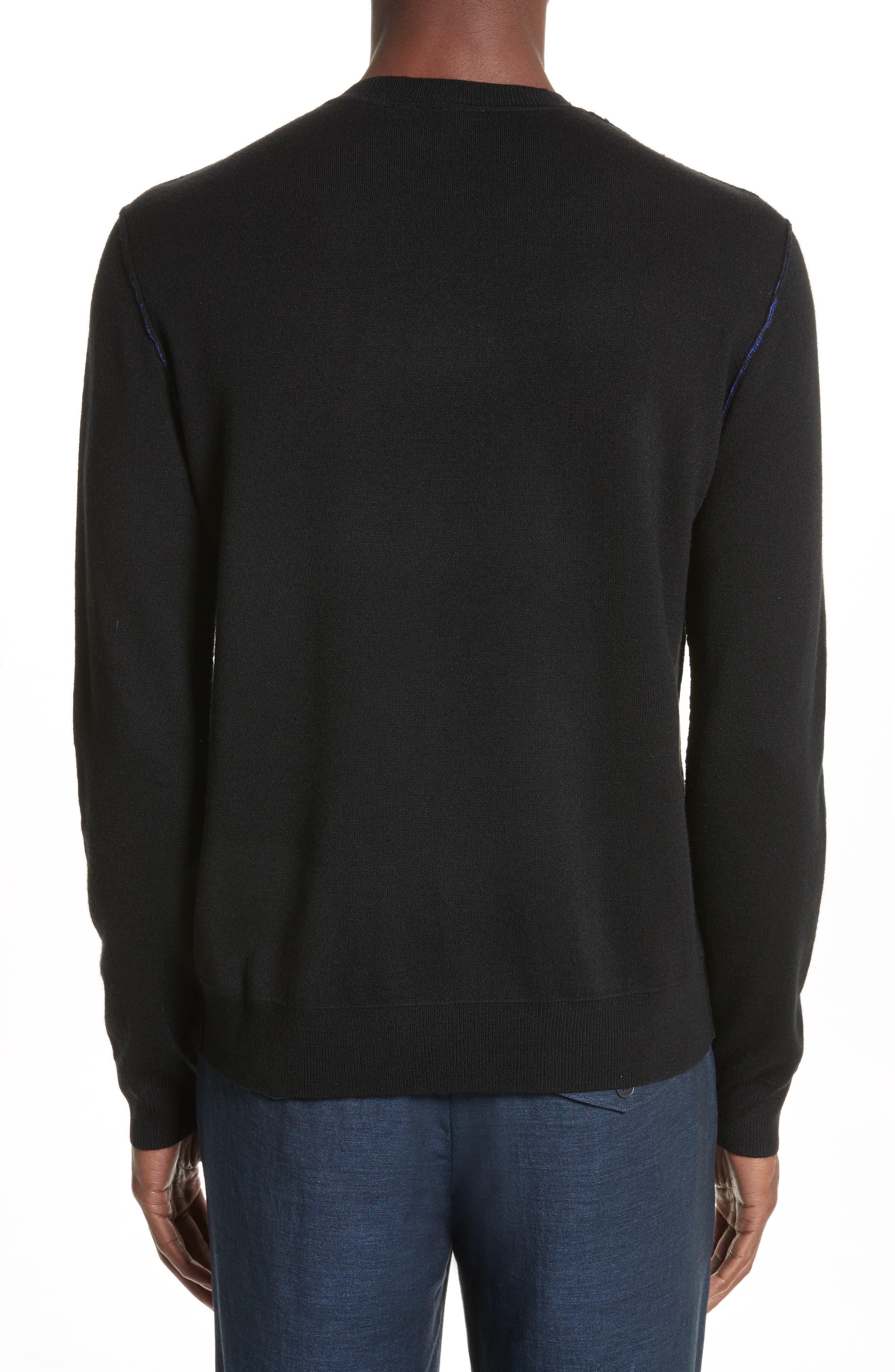 AJ Crewneck Sweater,                             Alternate thumbnail 2, color,                             Black