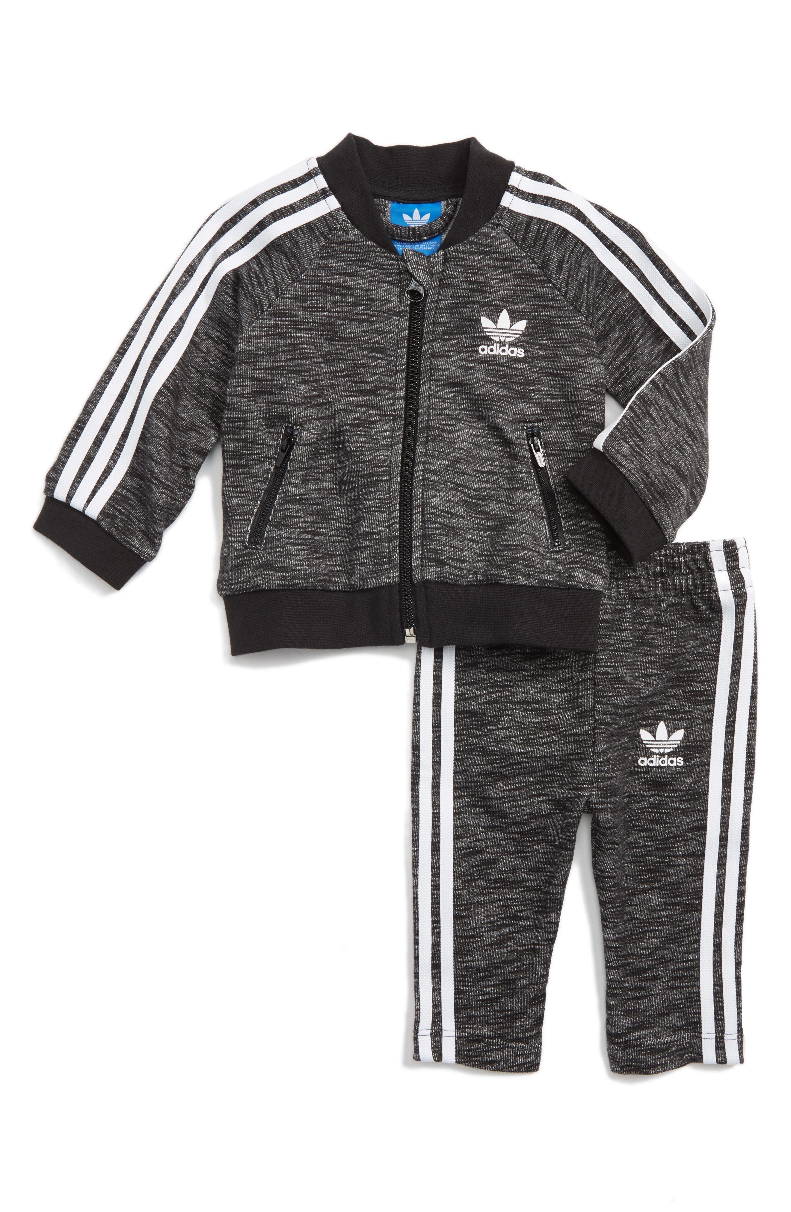 Alternate Image 1 Selected - adidas Originals Superstar Track Jacket & Pants Set (Baby)