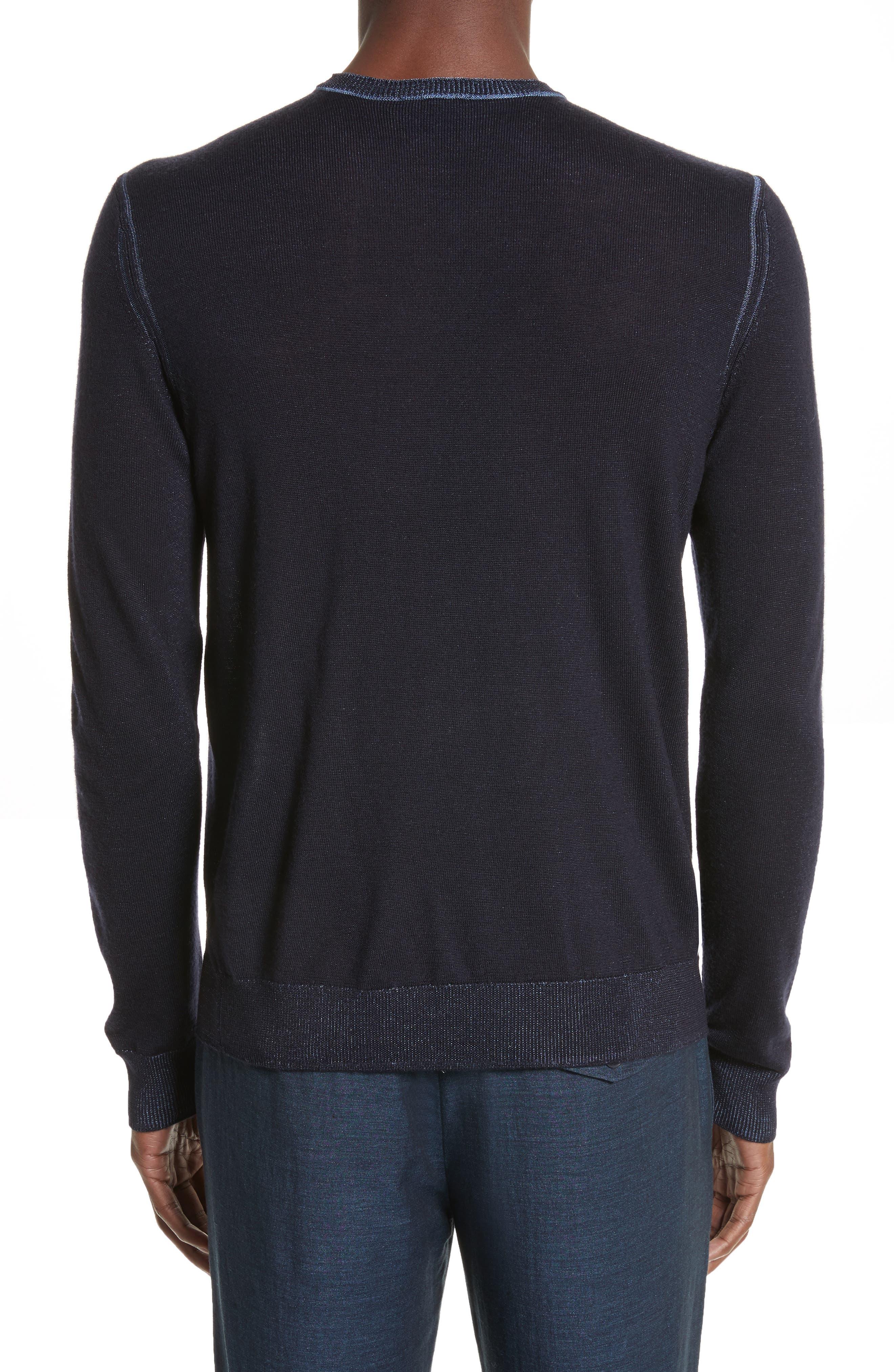 AJ V-Neck Sweater,                             Alternate thumbnail 2, color,                             Night Blue