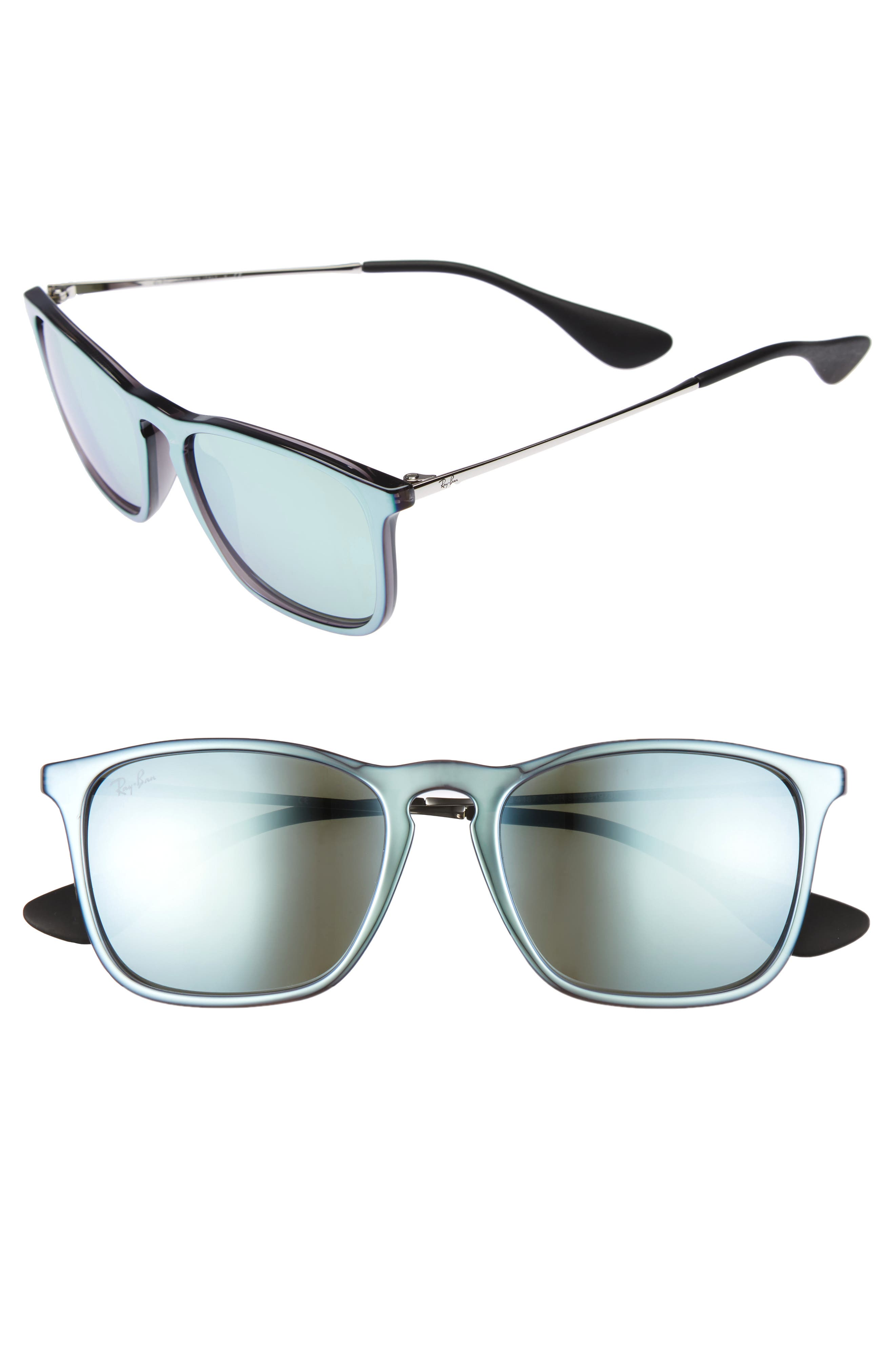 'Youngster' Velvet 54mm Sunglasses,                         Main,                         color, Grey Flash