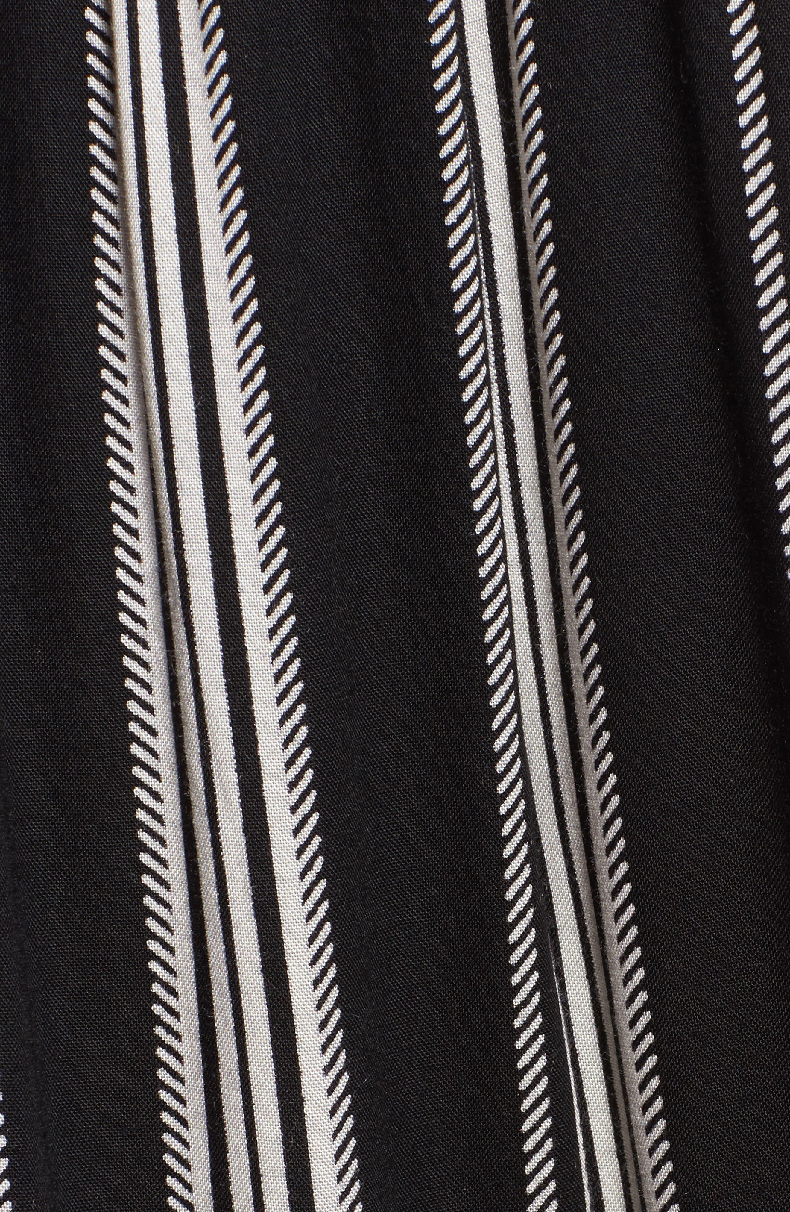 Herringbone Wide Leg Pants,                             Alternate thumbnail 5, color,                             887R-Black/ Ivory