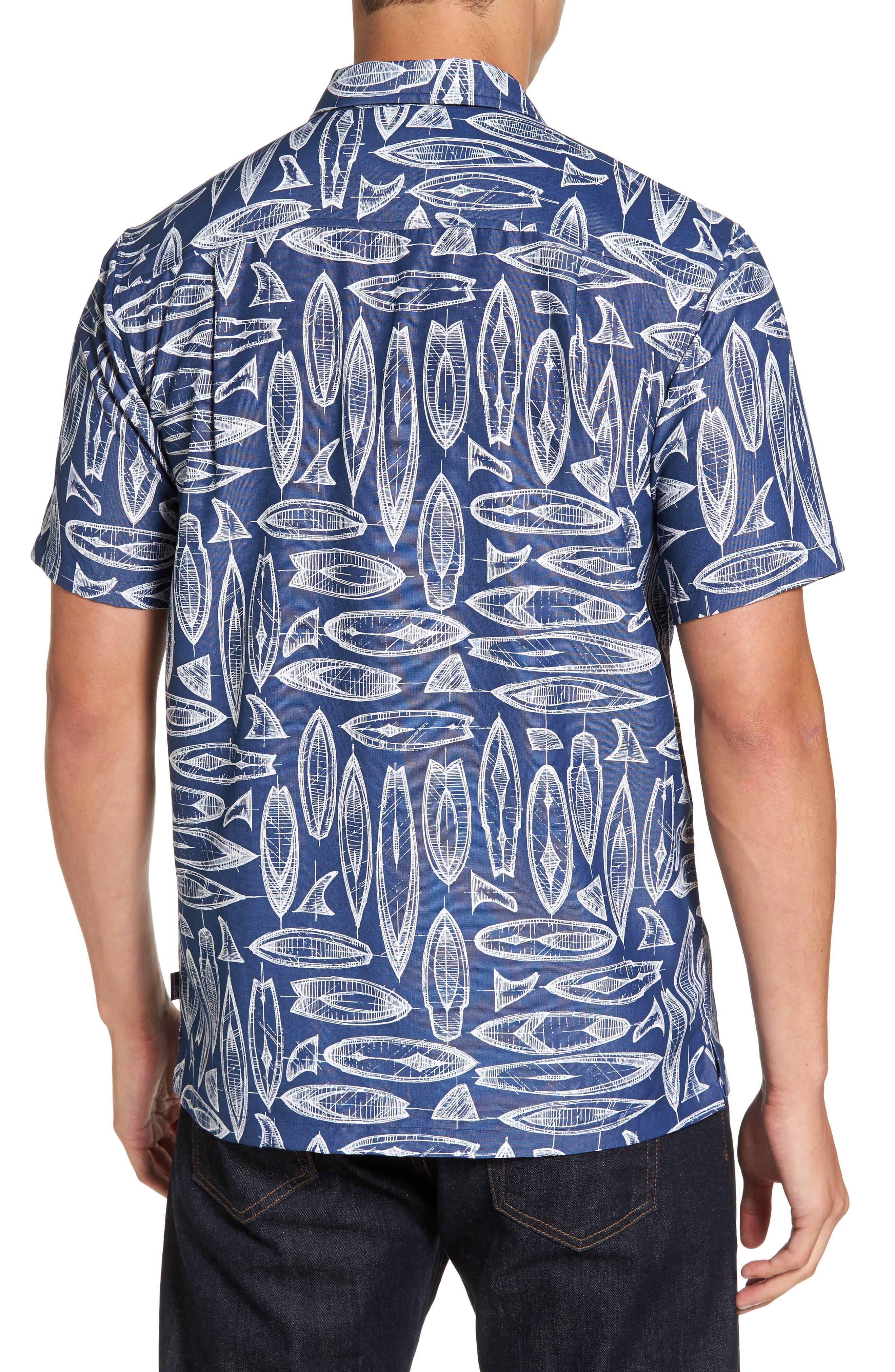 Waveriders Print Camp Shirt,                             Alternate thumbnail 2, color,                             Ocean