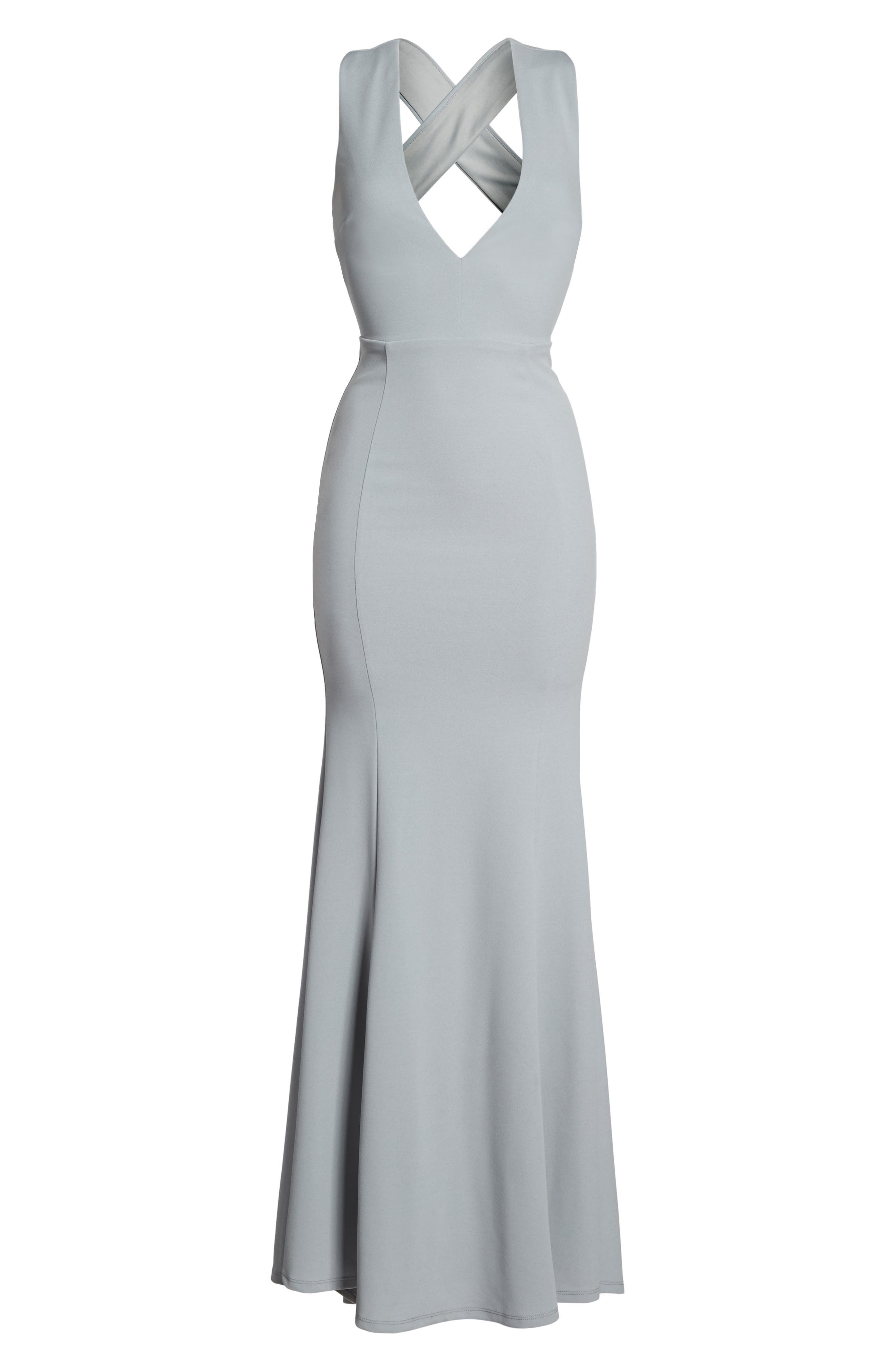 Alternate Image 6  - Lulus Heaven & Earth Plunge Neck Gown