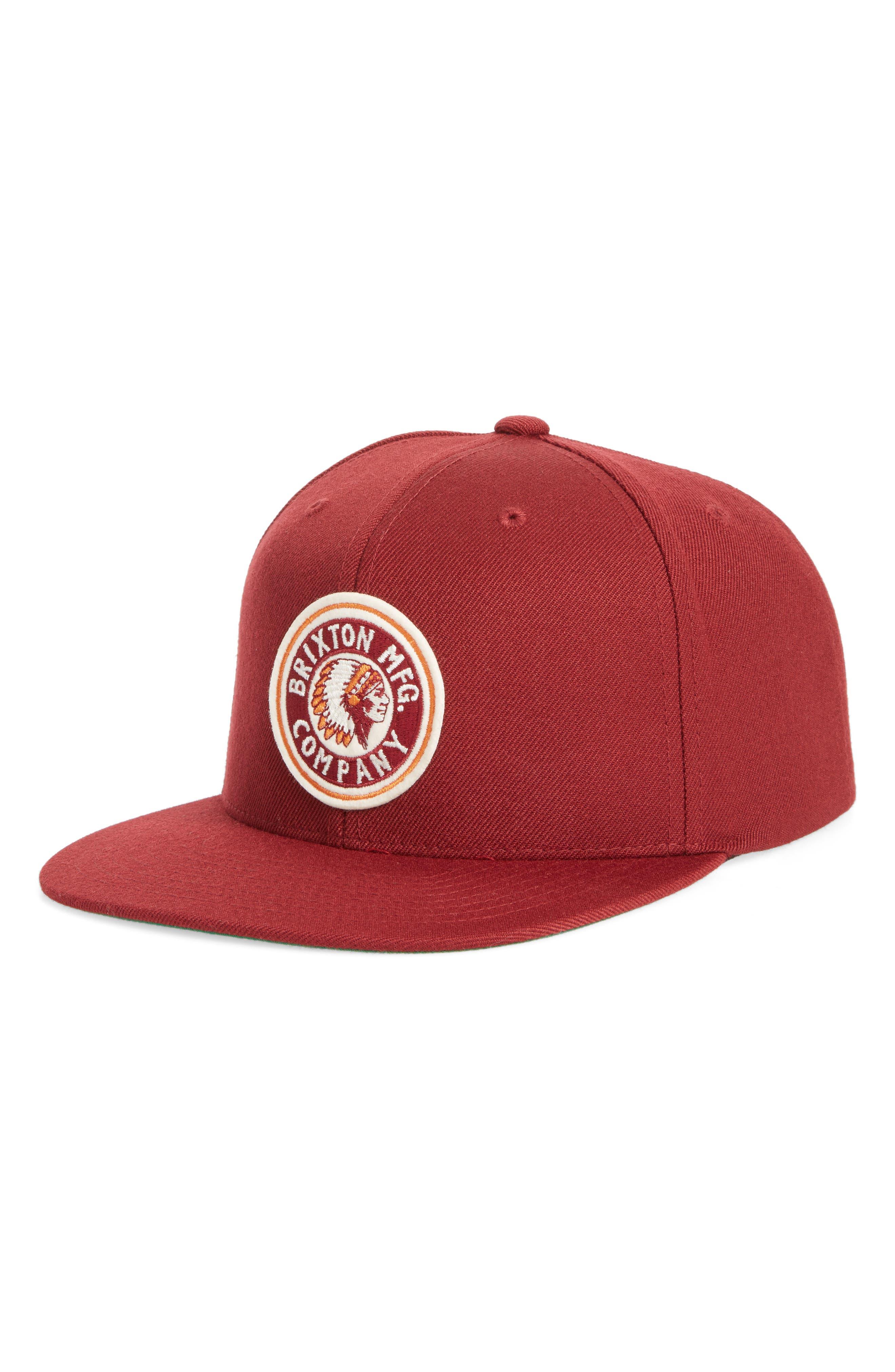 'Rival' Snapback Baseball Cap,                         Main,                         color, Burgundy/ Cream