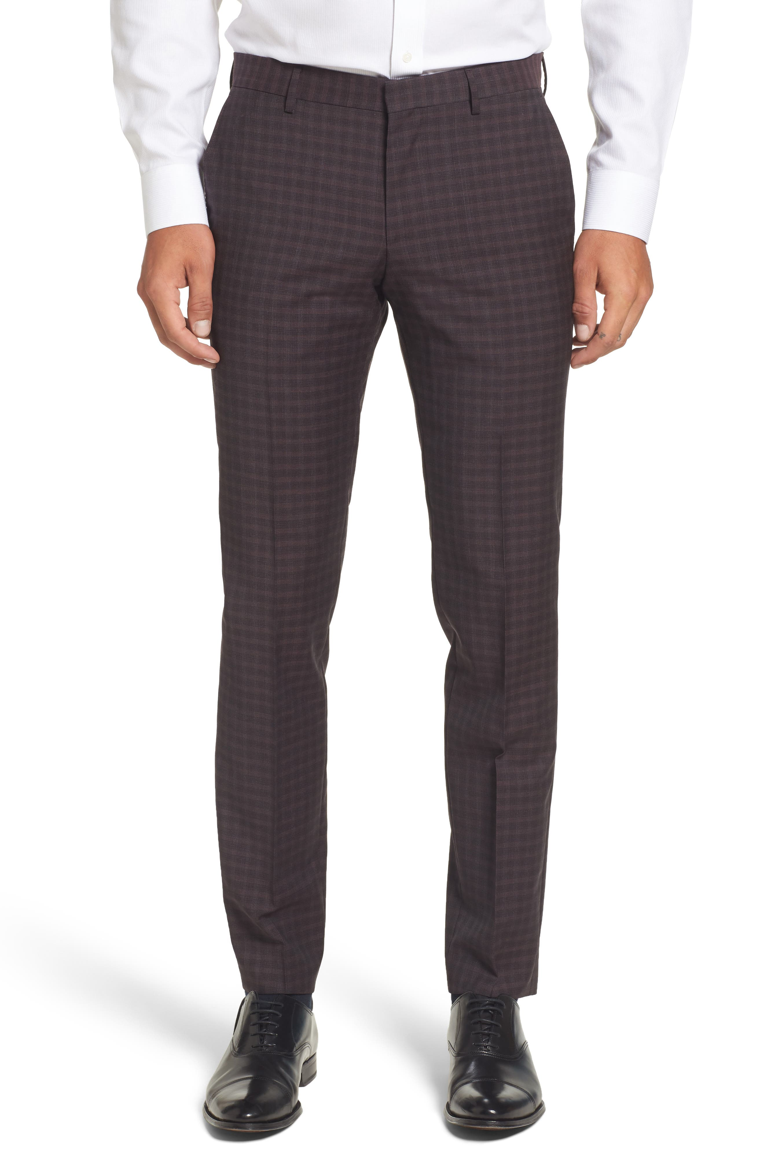Alternate Image 1 Selected - BOSS Benso Regular Fit Wool Trousers