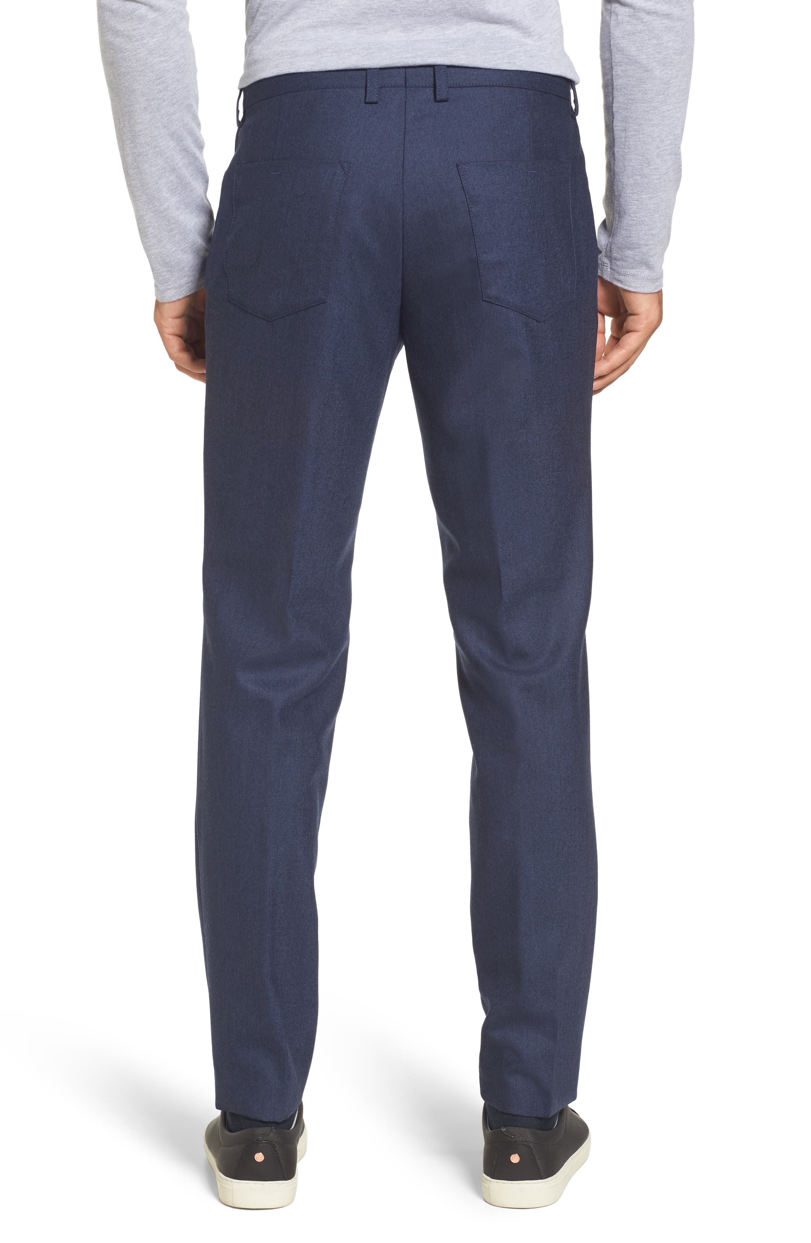 Alternate Image 2  - BOSS Gaetano Regular Fit Wool Trousers
