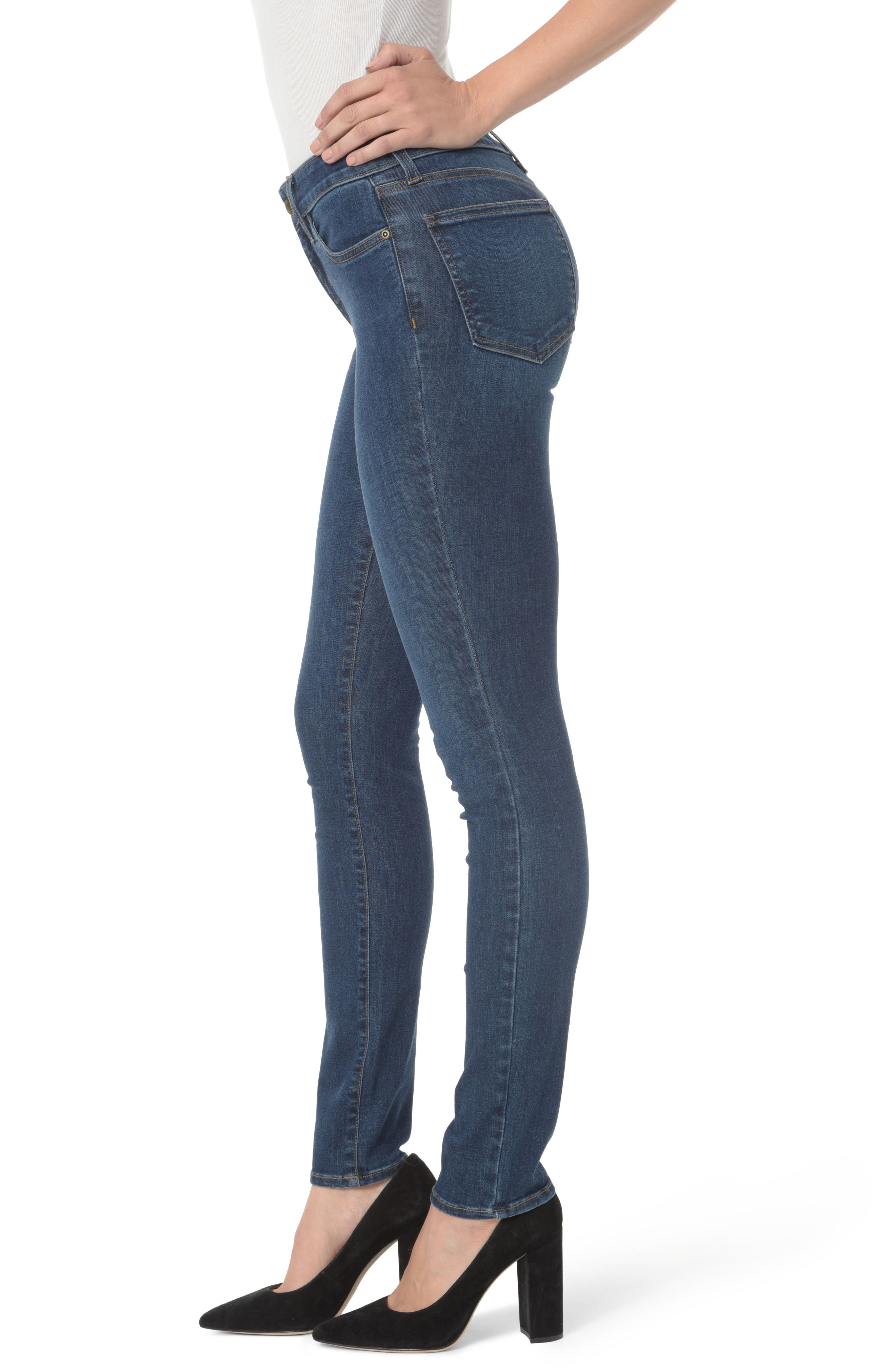 Alina Stretch Skinny Jeans,                             Alternate thumbnail 3, color,                             Cooper