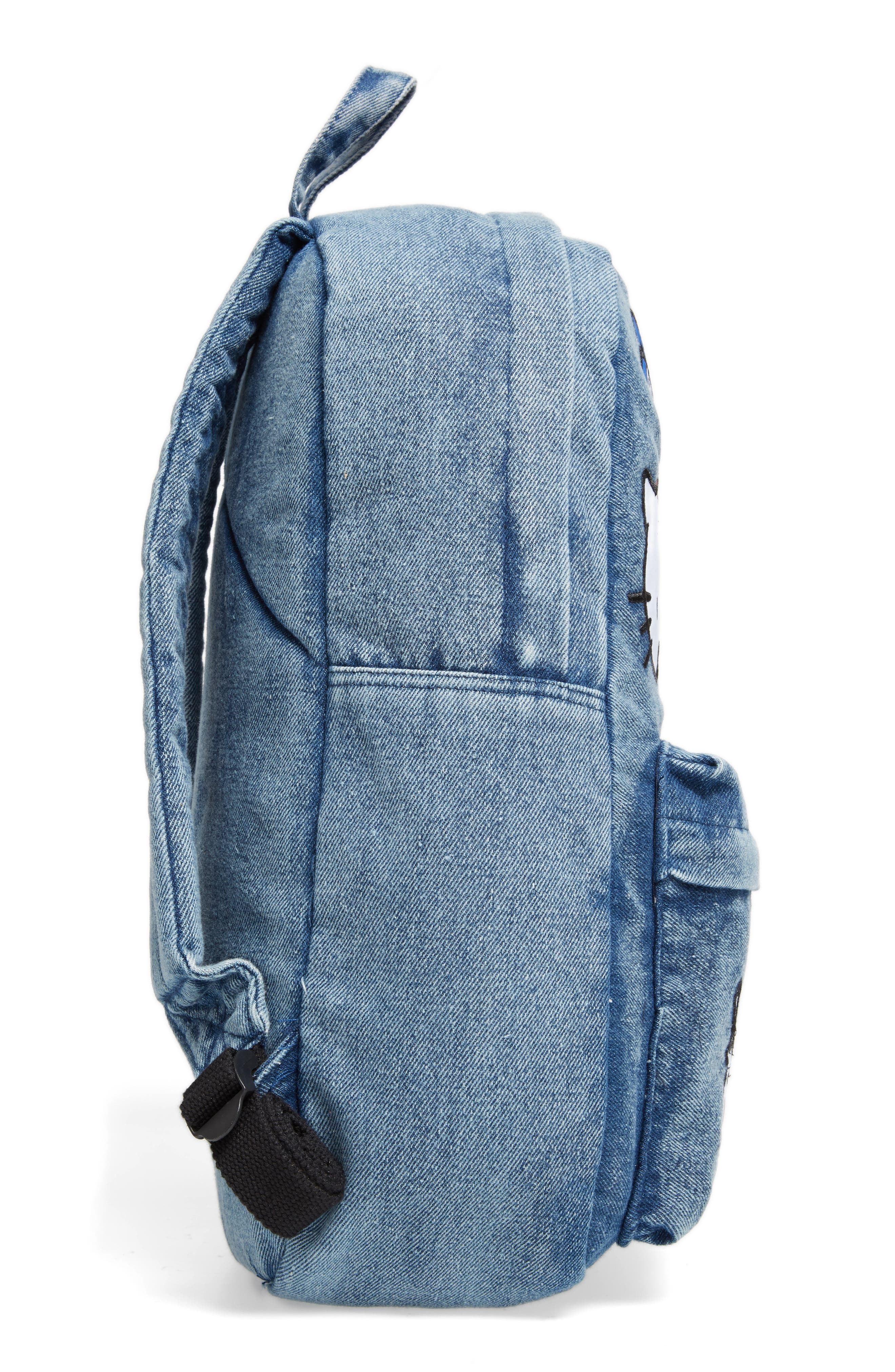 Alternate Image 3  - Loungefly Hello Kitty® Patch Denim Backpack (Kids)