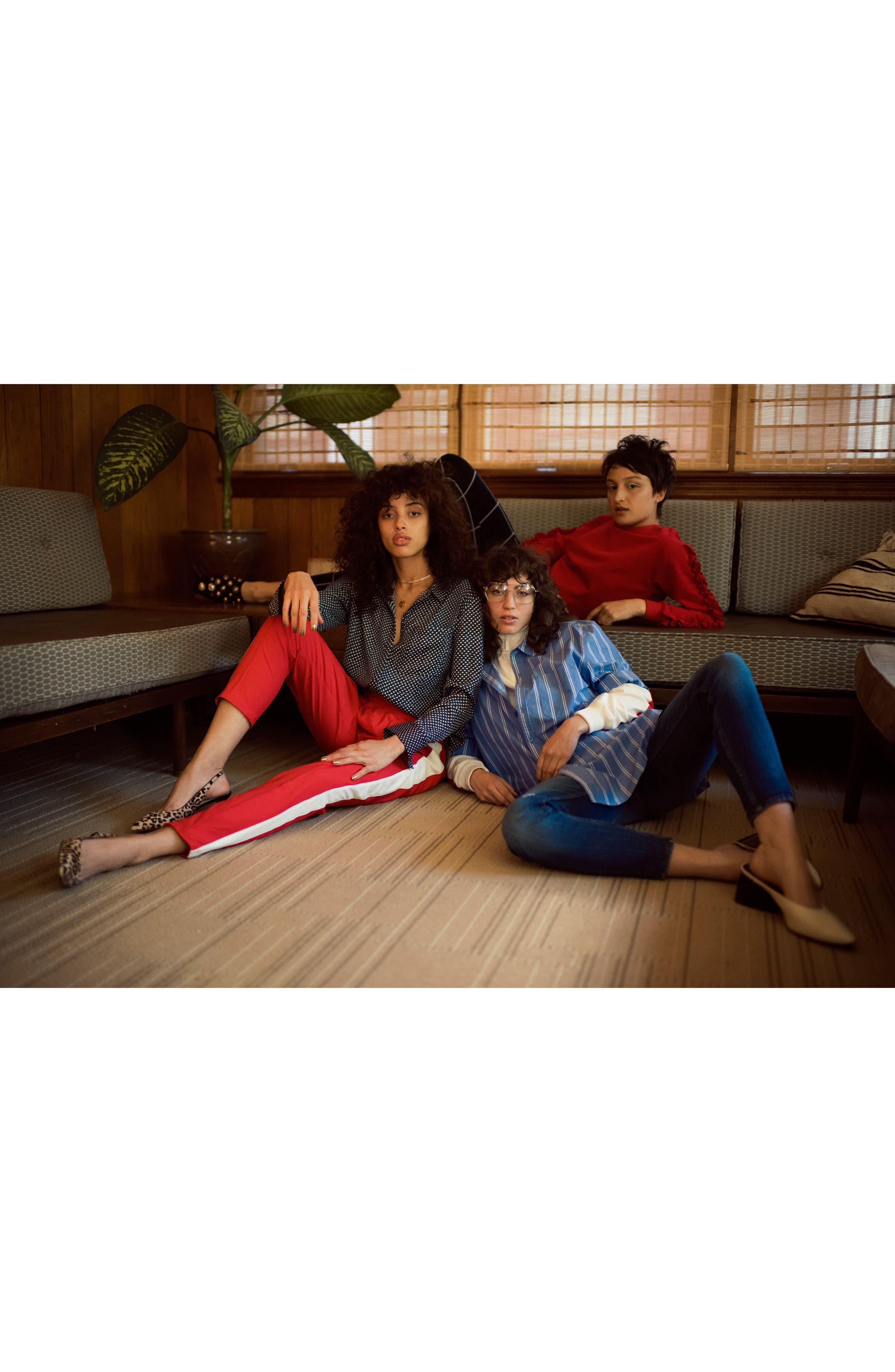 Stripe Step Hem Shirt,                             Alternate thumbnail 4, color,