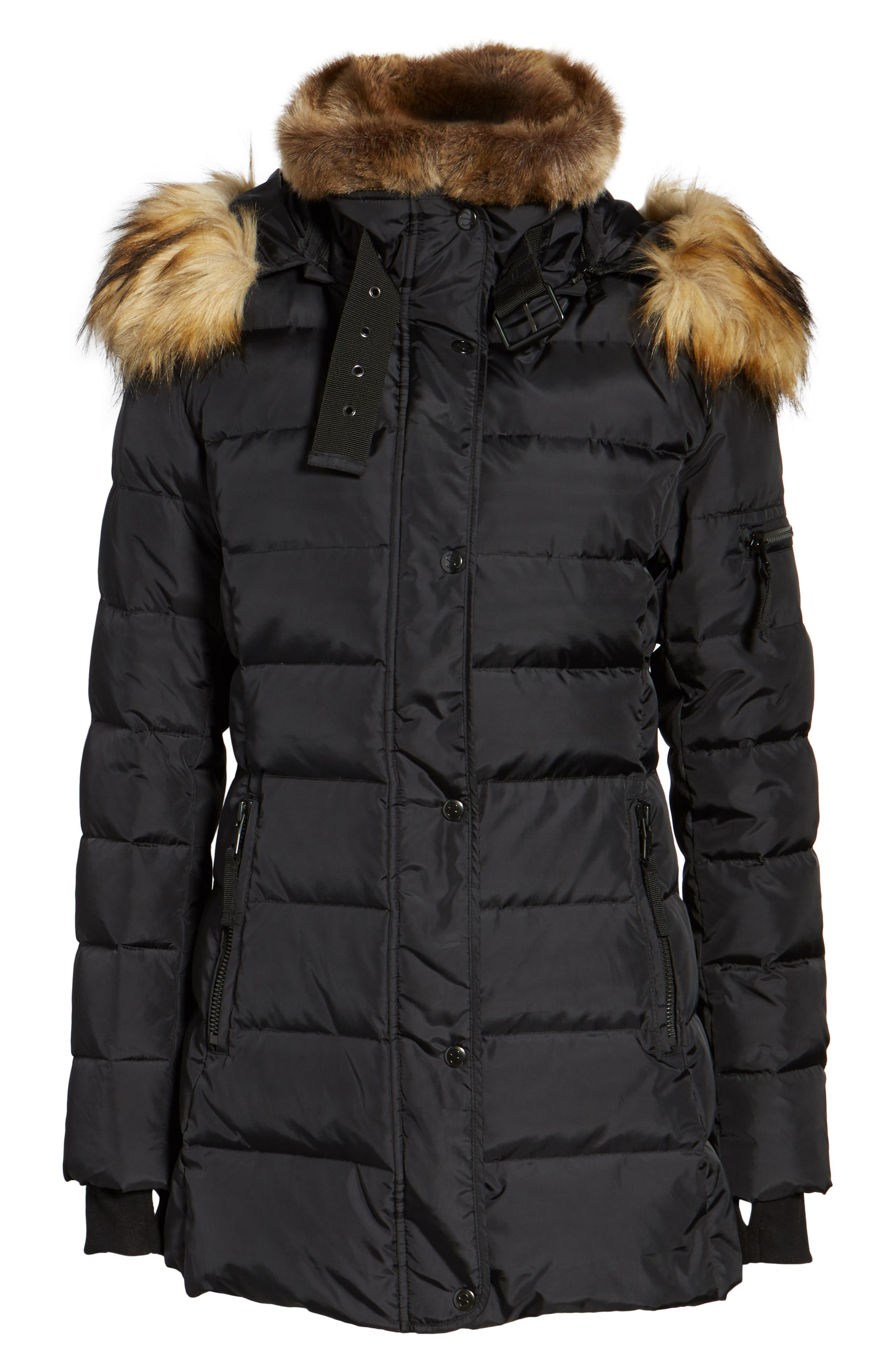 Alternate Image 6  - S13 Faux Fur Hooded Coat