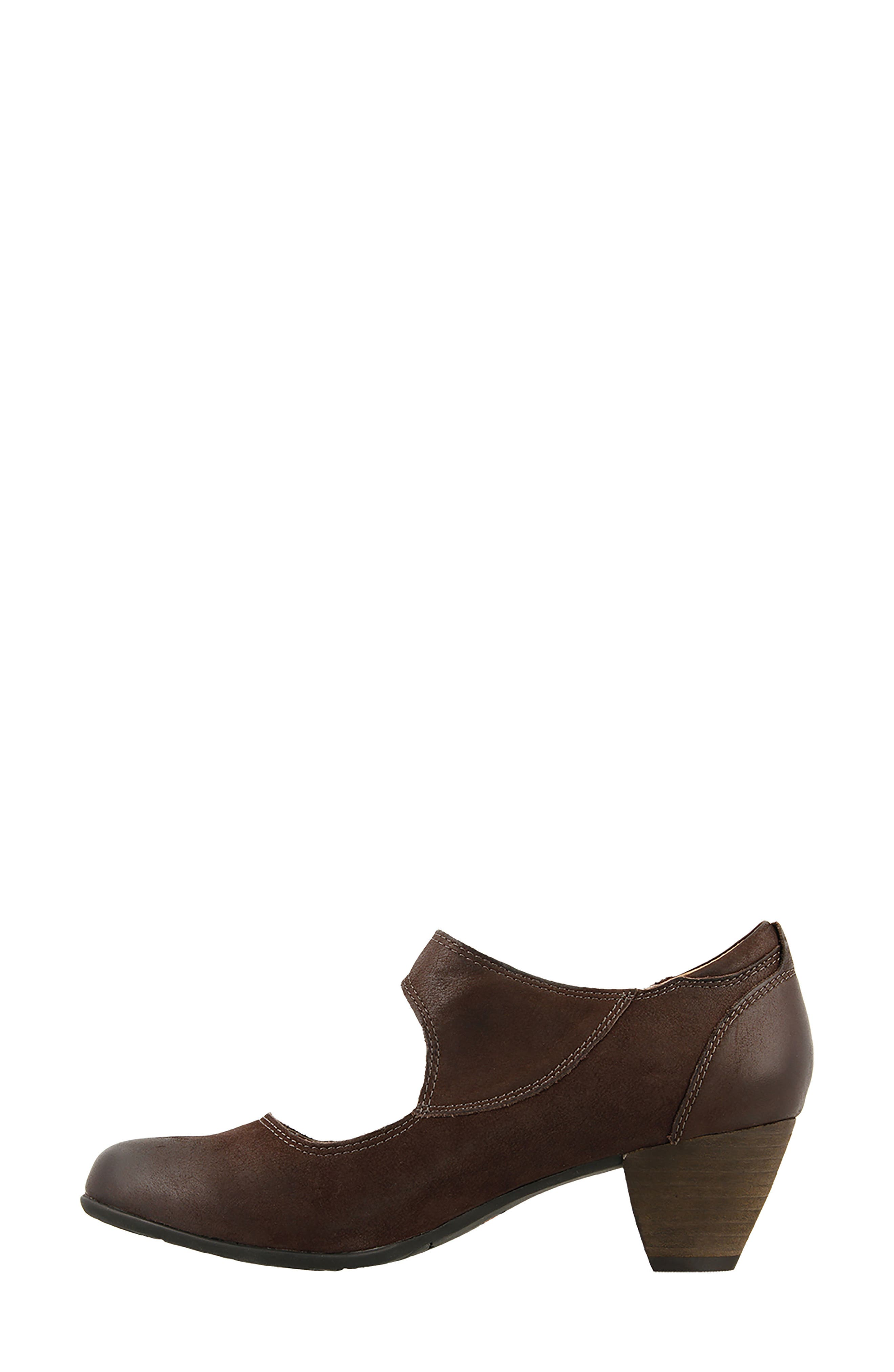 Studio Mary Jane Pump,                             Alternate thumbnail 4, color,                             Chocolate Oiled Leather