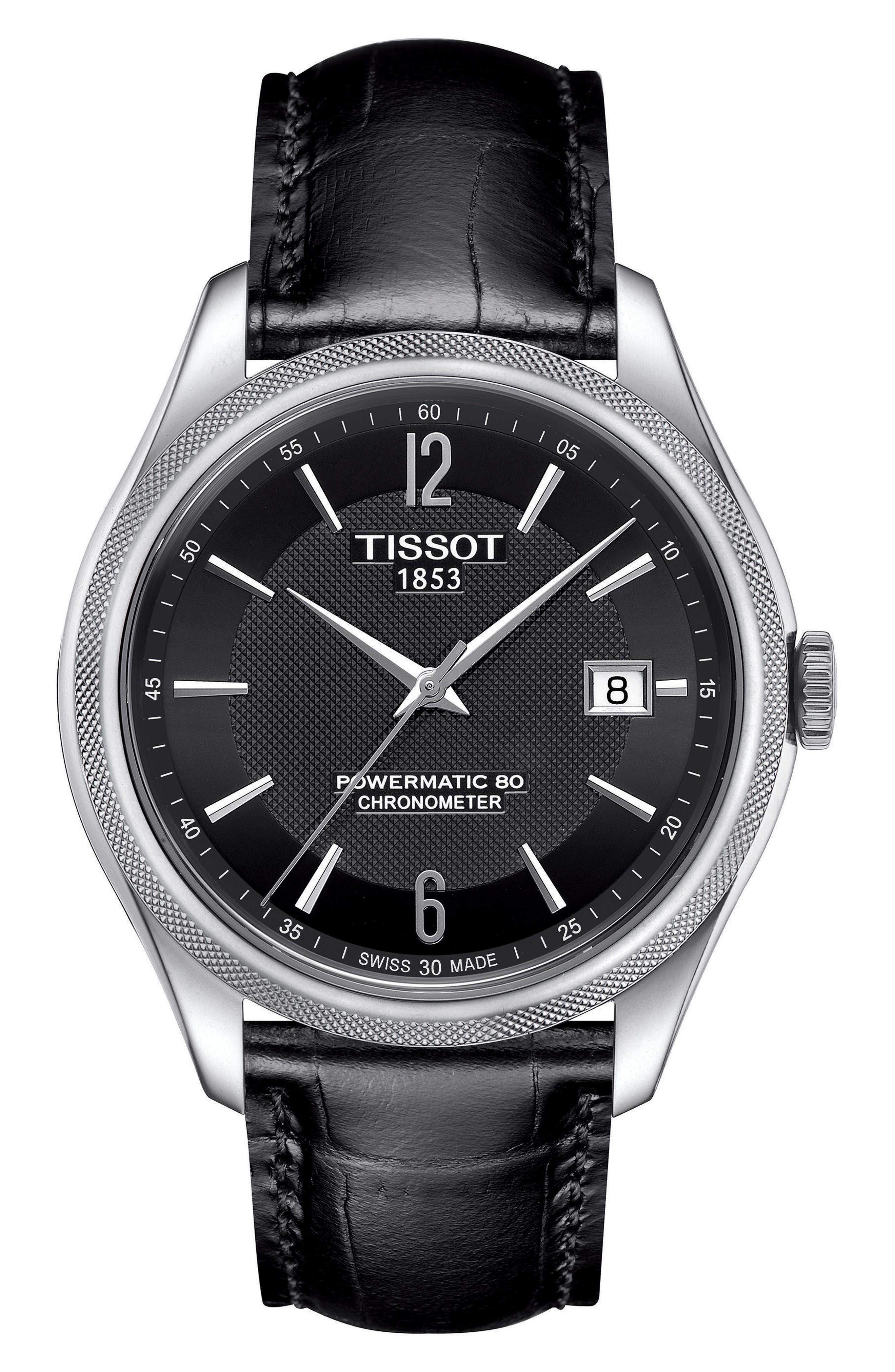 Main Image - Tissot Ballade Powermatic 80 Chronometer Leather Strap Watch, 39mm
