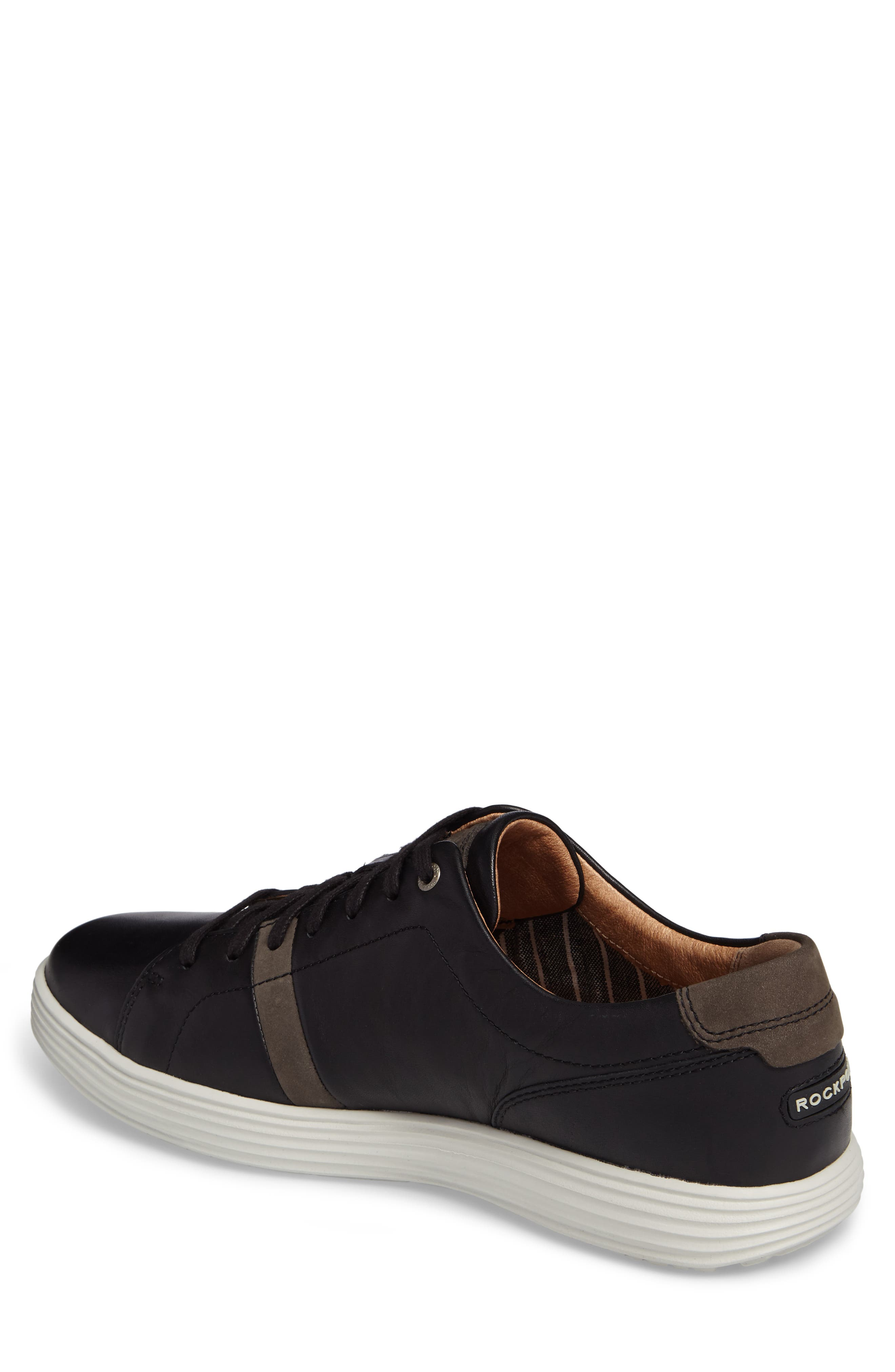 Thurston Sneaker,                             Alternate thumbnail 2, color,                             Black Leather