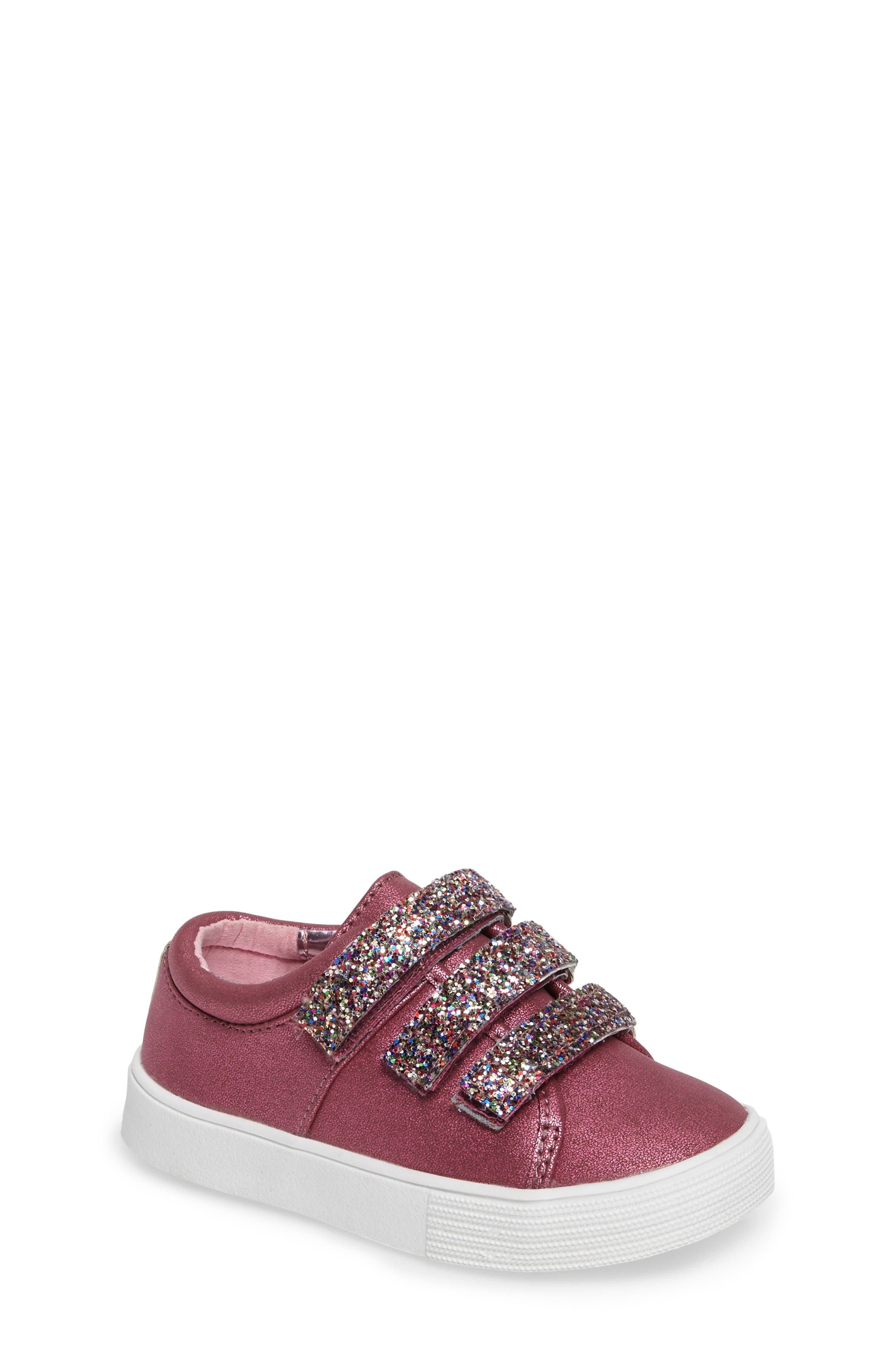 Alternate Image 1 Selected - Kenneth Cole New York Kam Glitter Strap Sneaker (Walker & Toddler)