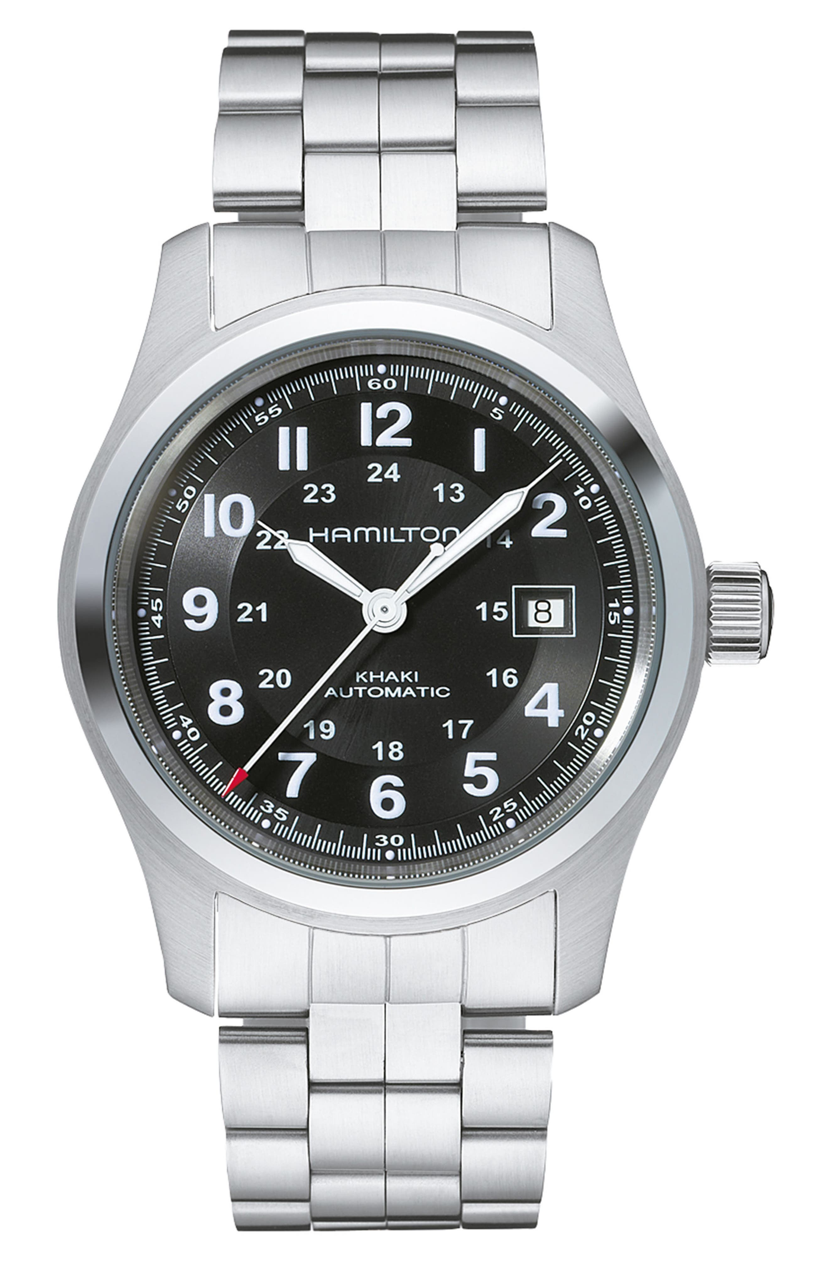 HAMILTON Khaki Field Automatic Bracelet Watch, 42mm