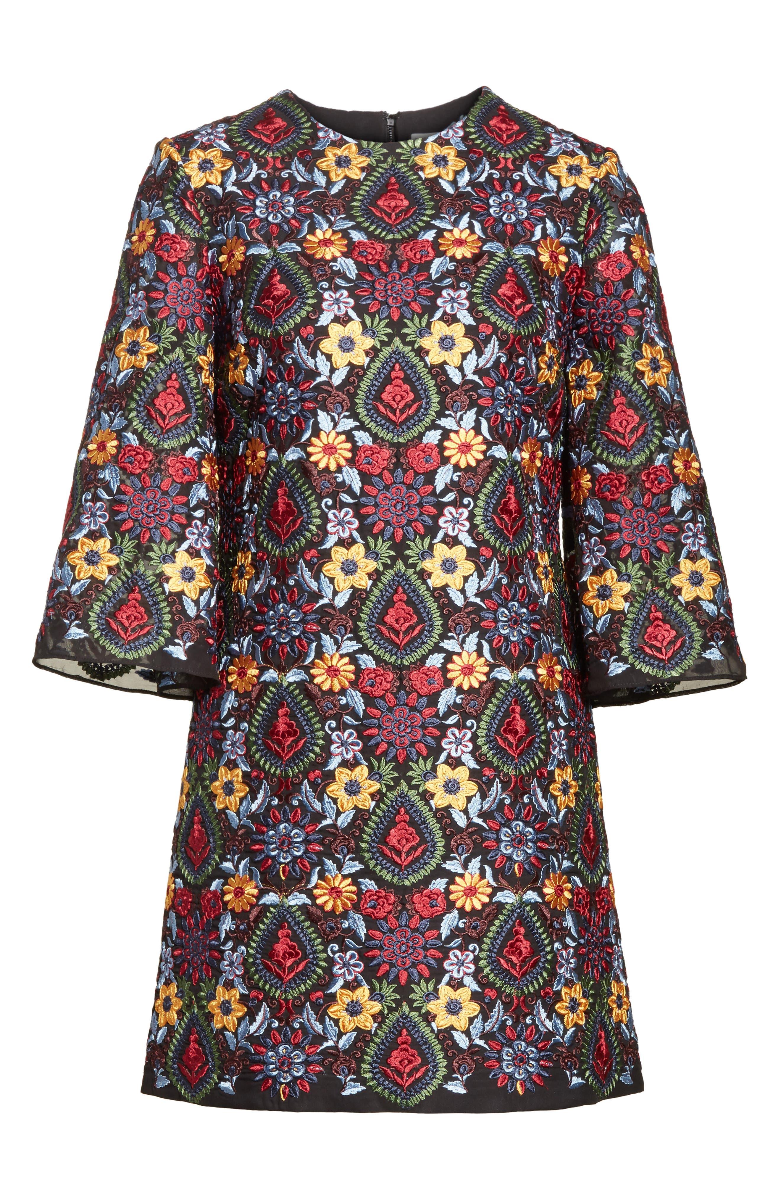 Alternate Image 6  - Alice + Olivia Coley Embroidered Bell Sleeve Dress