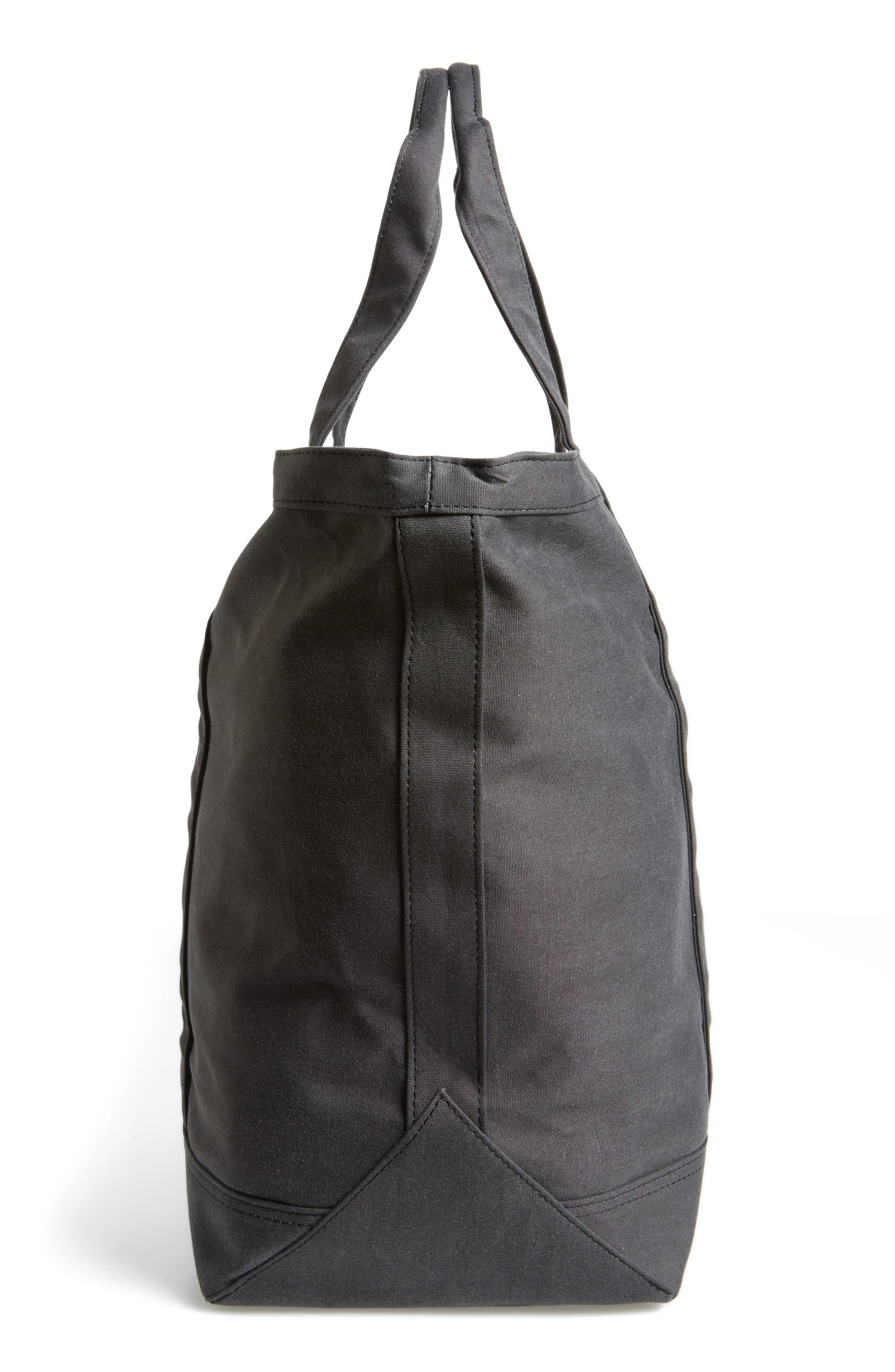 Bamfield Tote Bag,                             Alternate thumbnail 3, color,                             Black